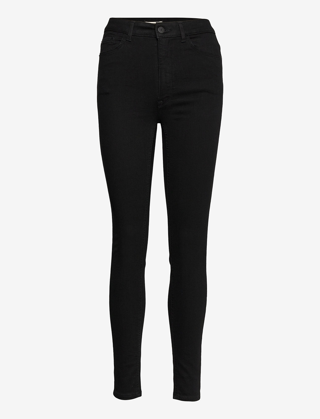 Lindex - Trs denim Vera HW black - skinny jeans - black - 0