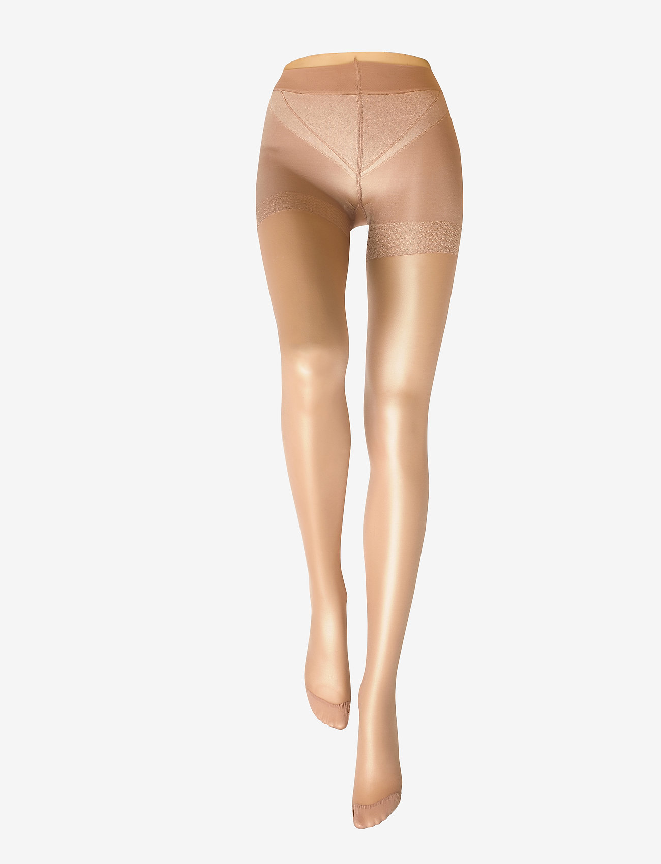 Lindex - Tights 40den firm shaping - panty's - light beige - 1