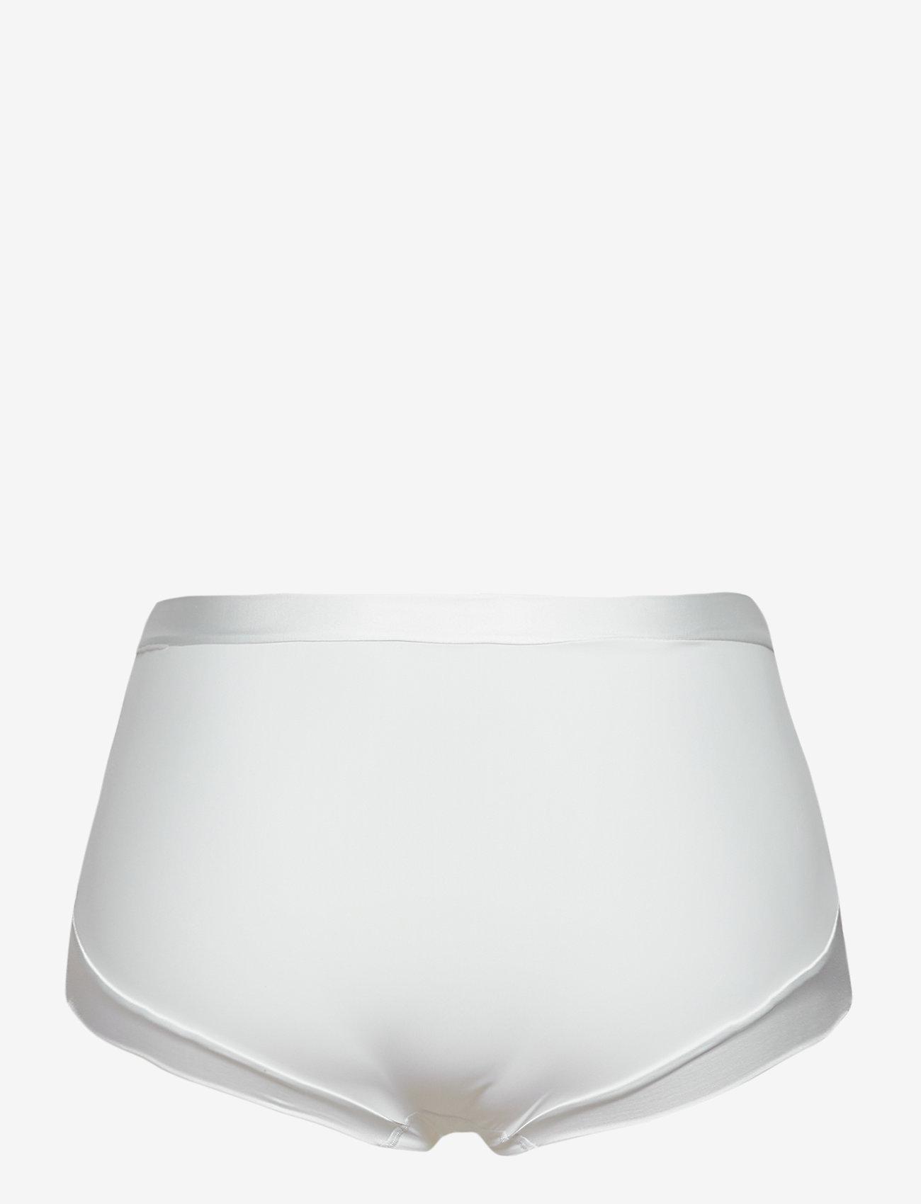 Lindex - Girdle Brief Matt Shiny light - broekjes - white - 1