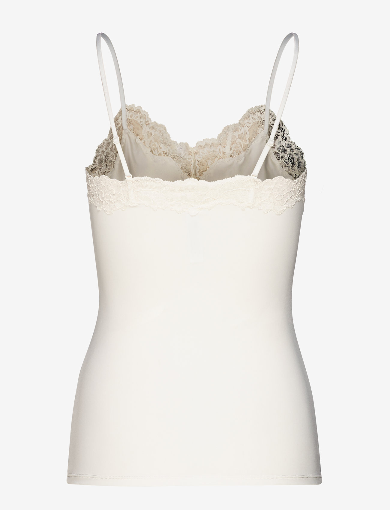 Lindex - Camisole Micro w lace trim Ann - bodies & slips - off white - 1