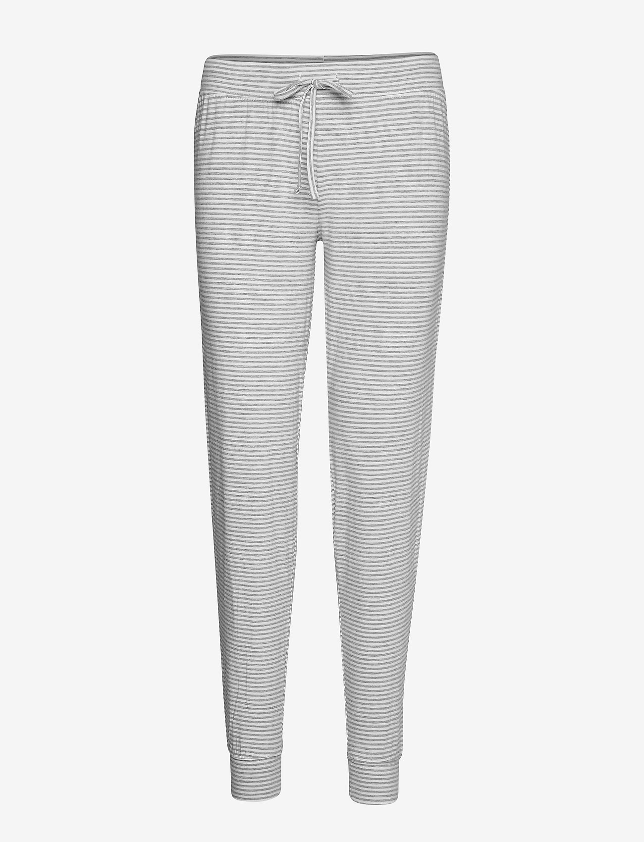 Lindex - Night Trousers Disa Striped - doły - light grey melange - 0