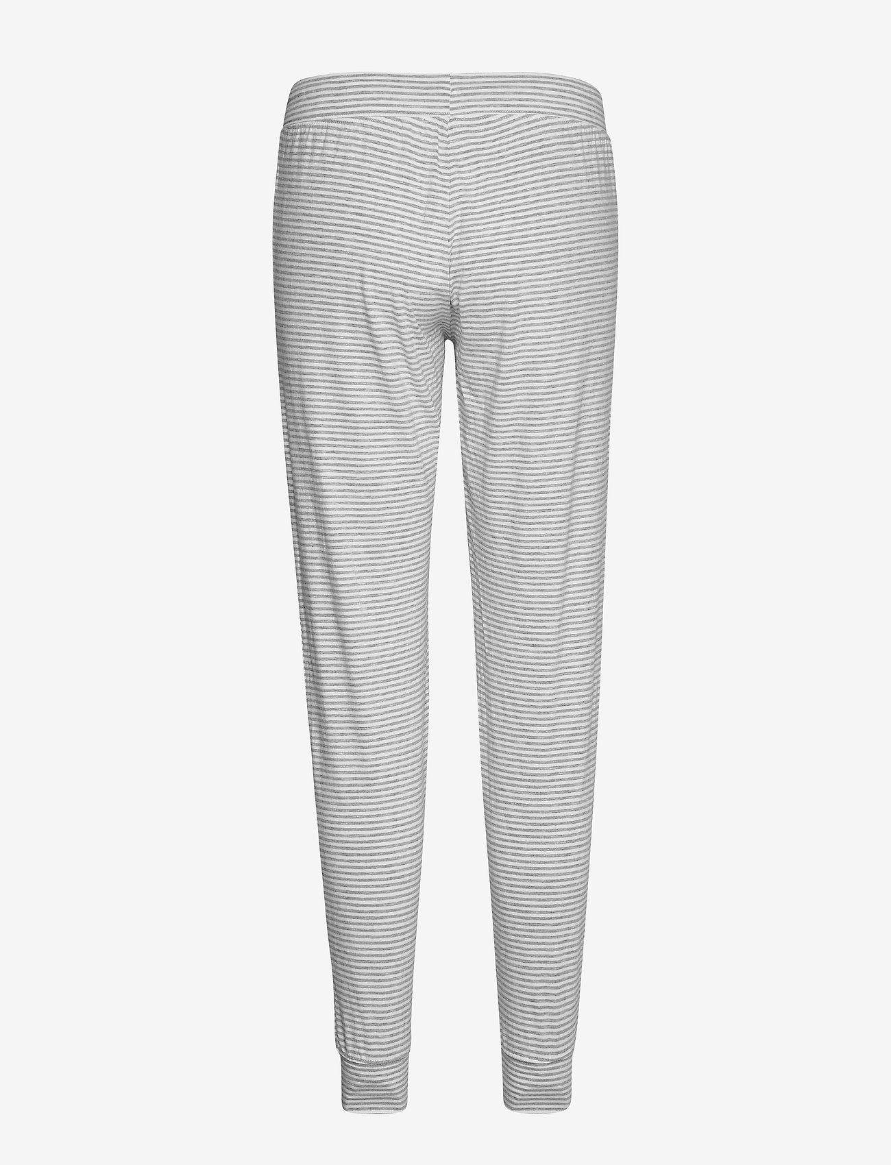 Lindex - Night Trousers Disa Striped - doły - light grey melange - 1