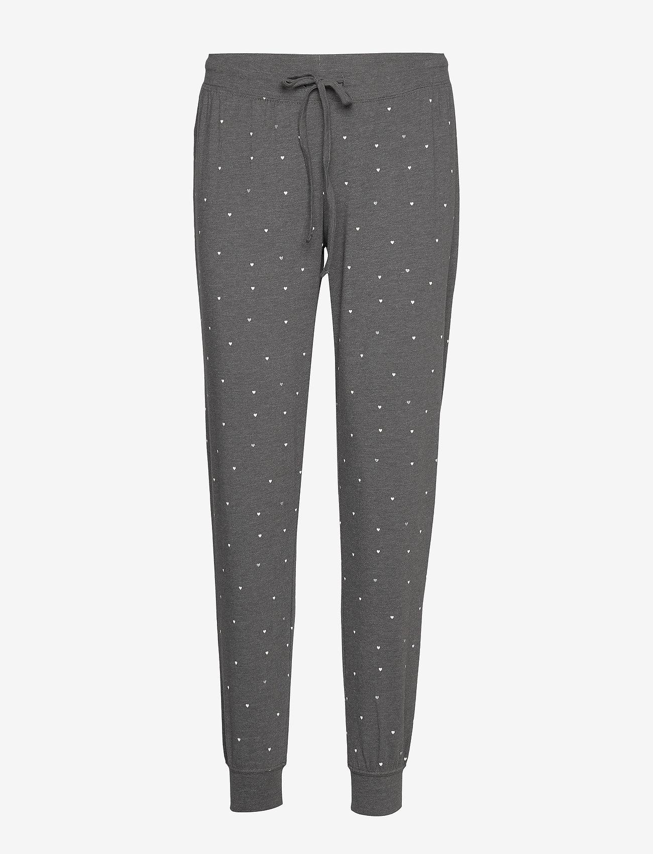 Lindex - Night Trousers Tea AOP - nederdelar - dark grey melange - 0