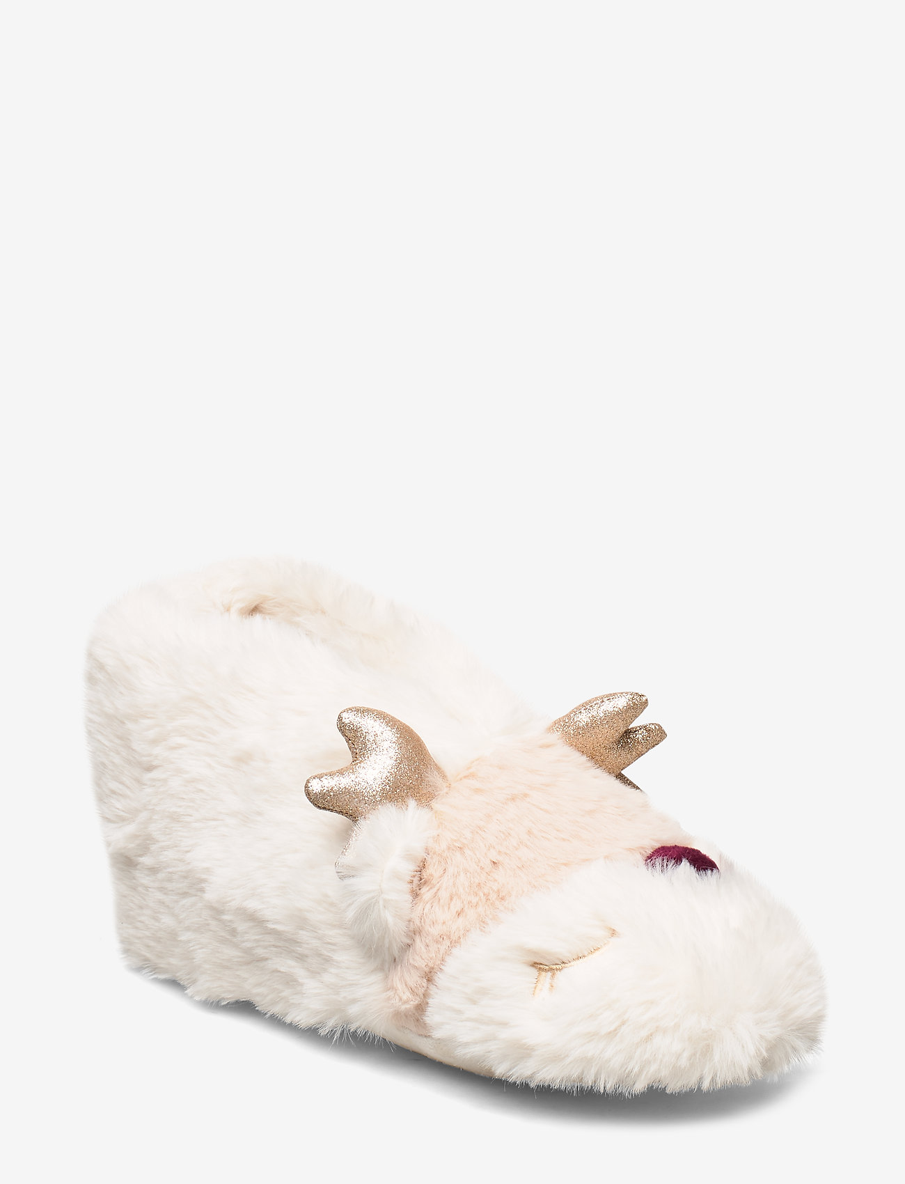 Lindex - Indoor boot Furry face - pantoffels - light dusty white - 0