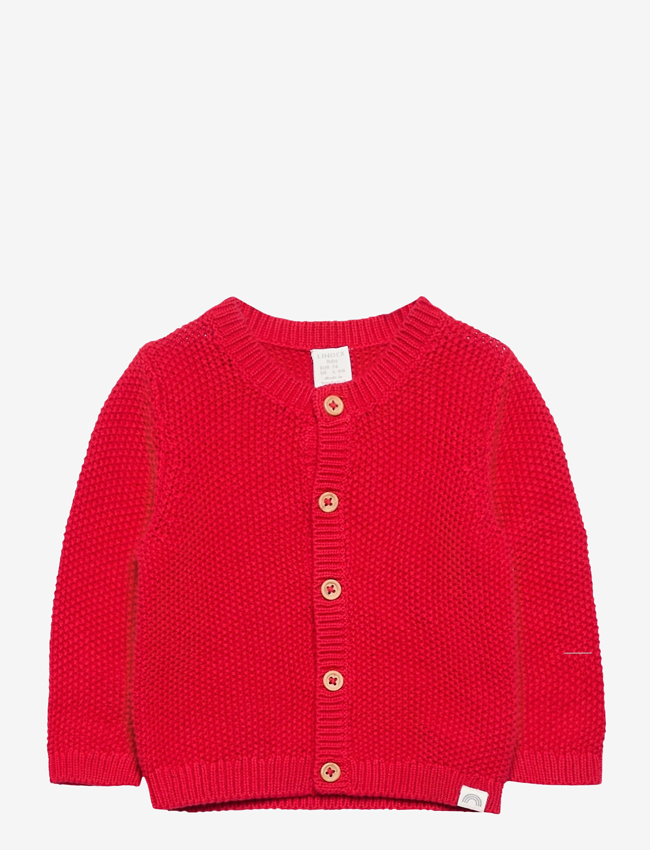 Lindex - Cardigan moss knit - kardigany - red - 0