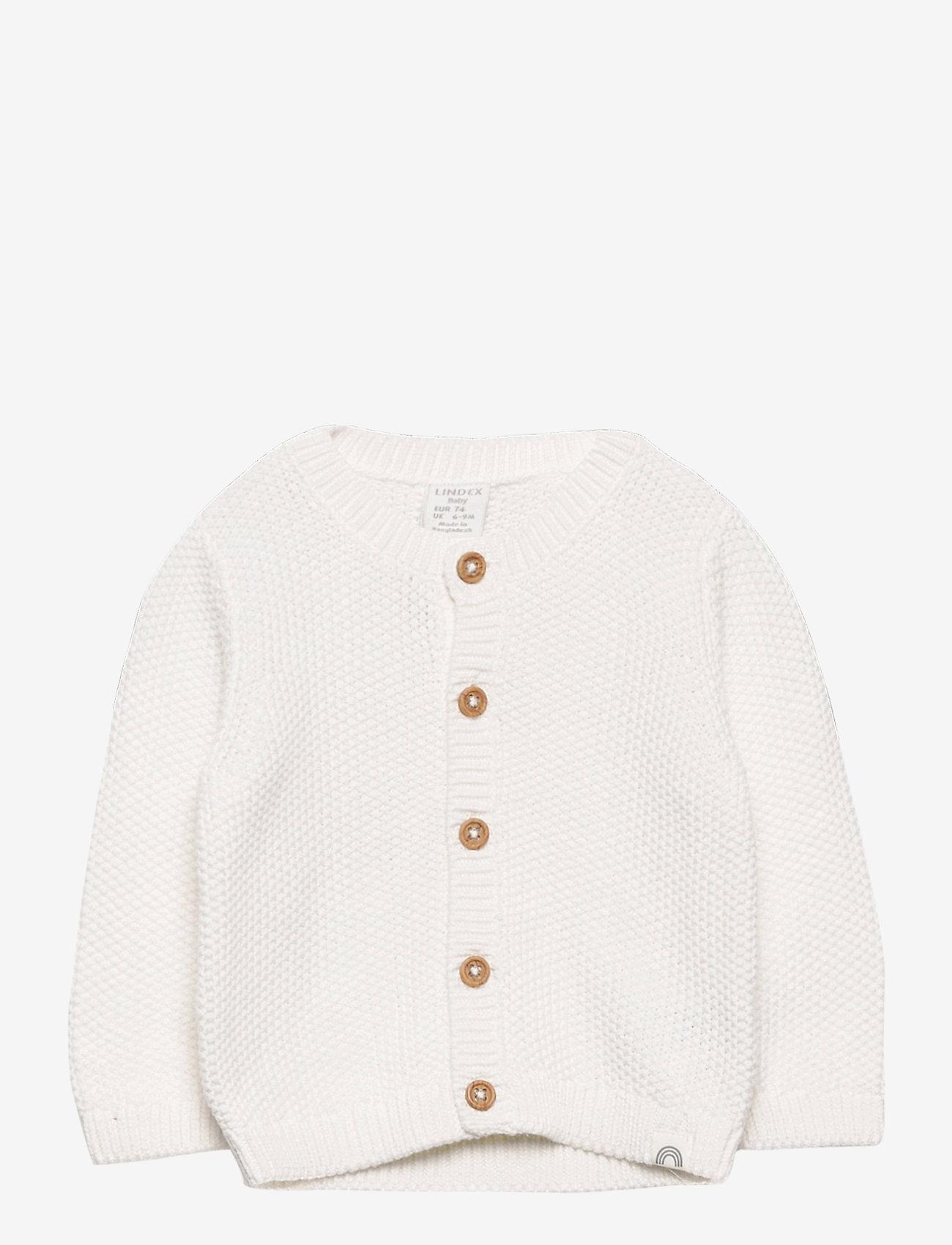 Lindex - Cardigan moss knit - gilets - white - 0