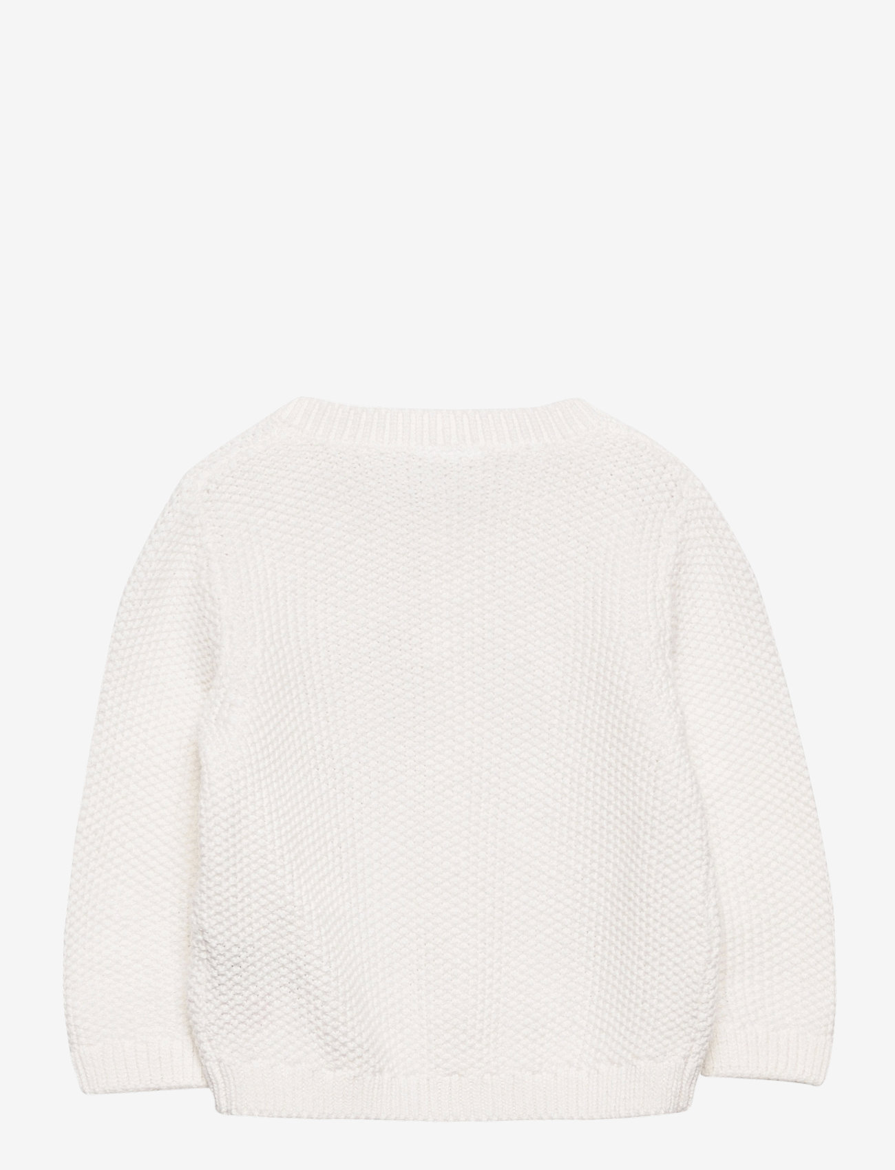 Lindex - Cardigan moss knit - gilets - white - 1