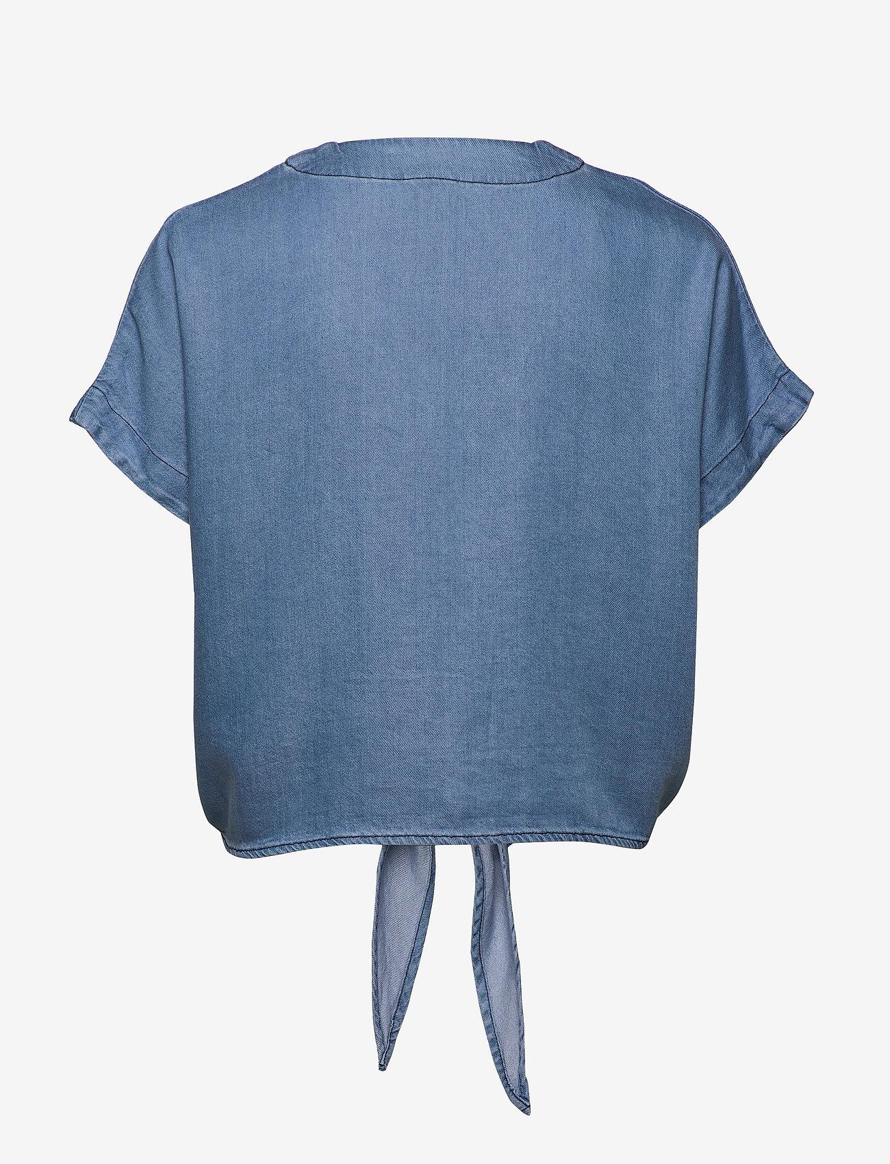 Lindex - Blouse Julia denim - short-sleeved blouses - denim blue - 1