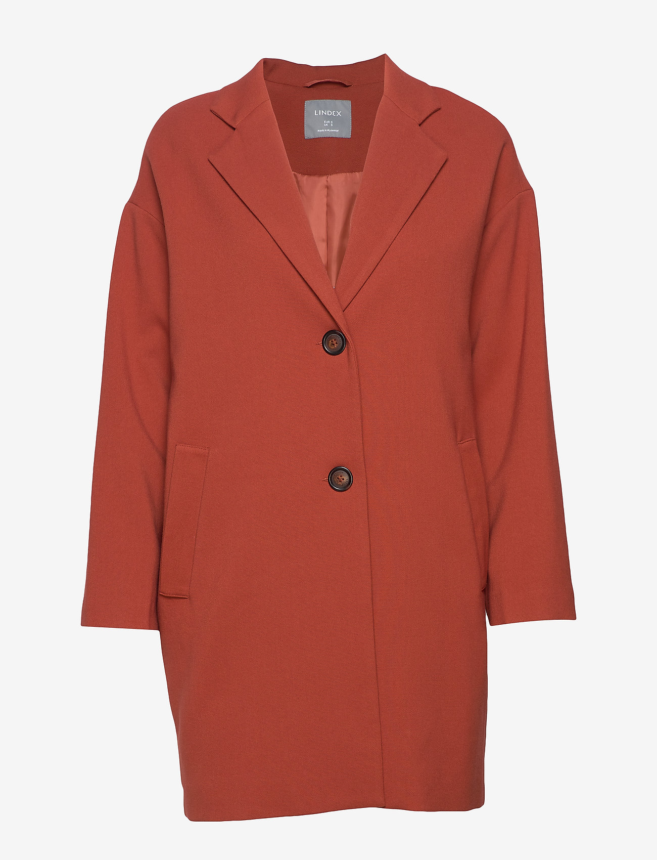 Lindex - Coat Lina - lichte jassen - dark dusty red - 0