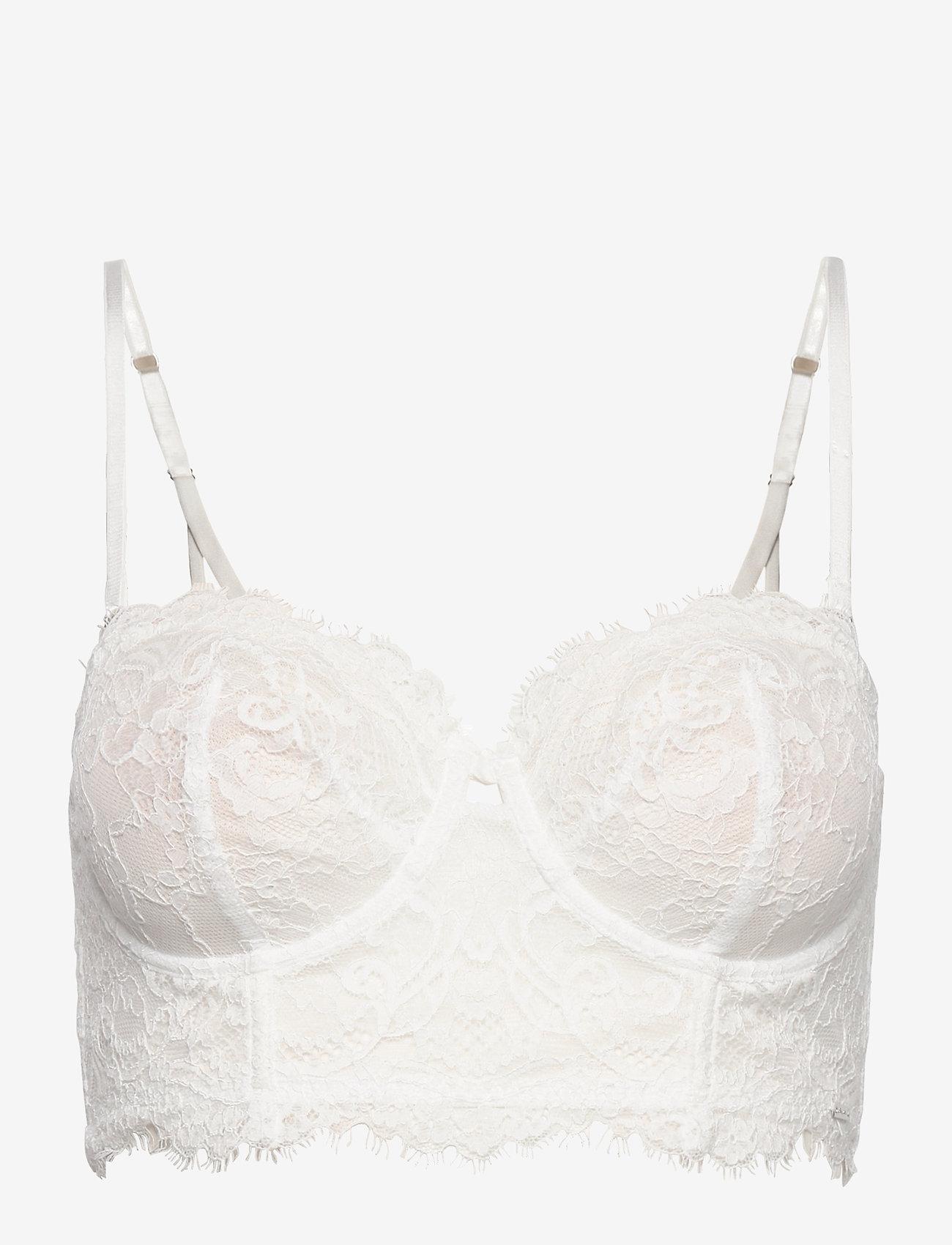 Lindex - Bra  Smilla Bustier - biustonosze z wypełnieniem - light white - 0