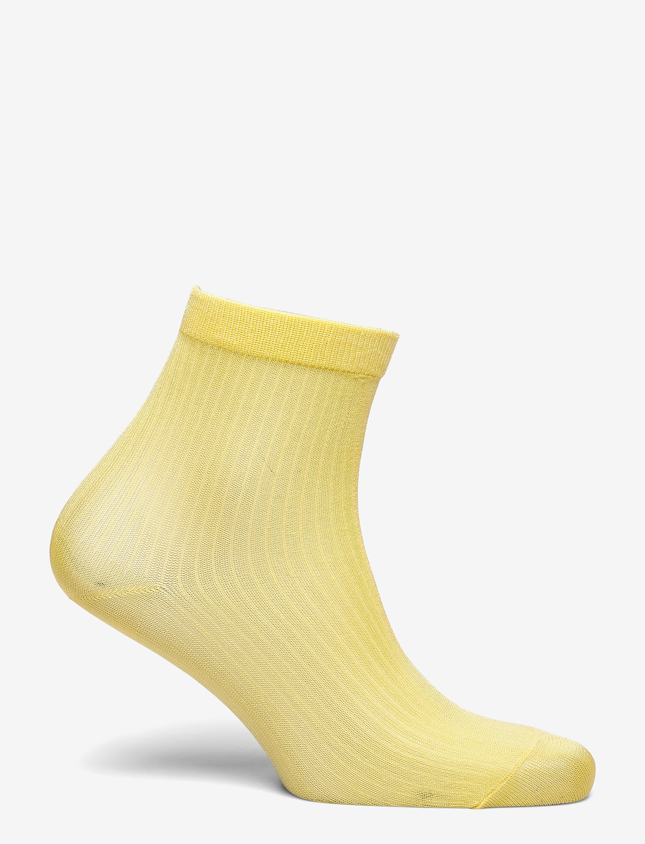 Sock Low Shiny Rib (Strongyellow) - Lindex PEMgoW