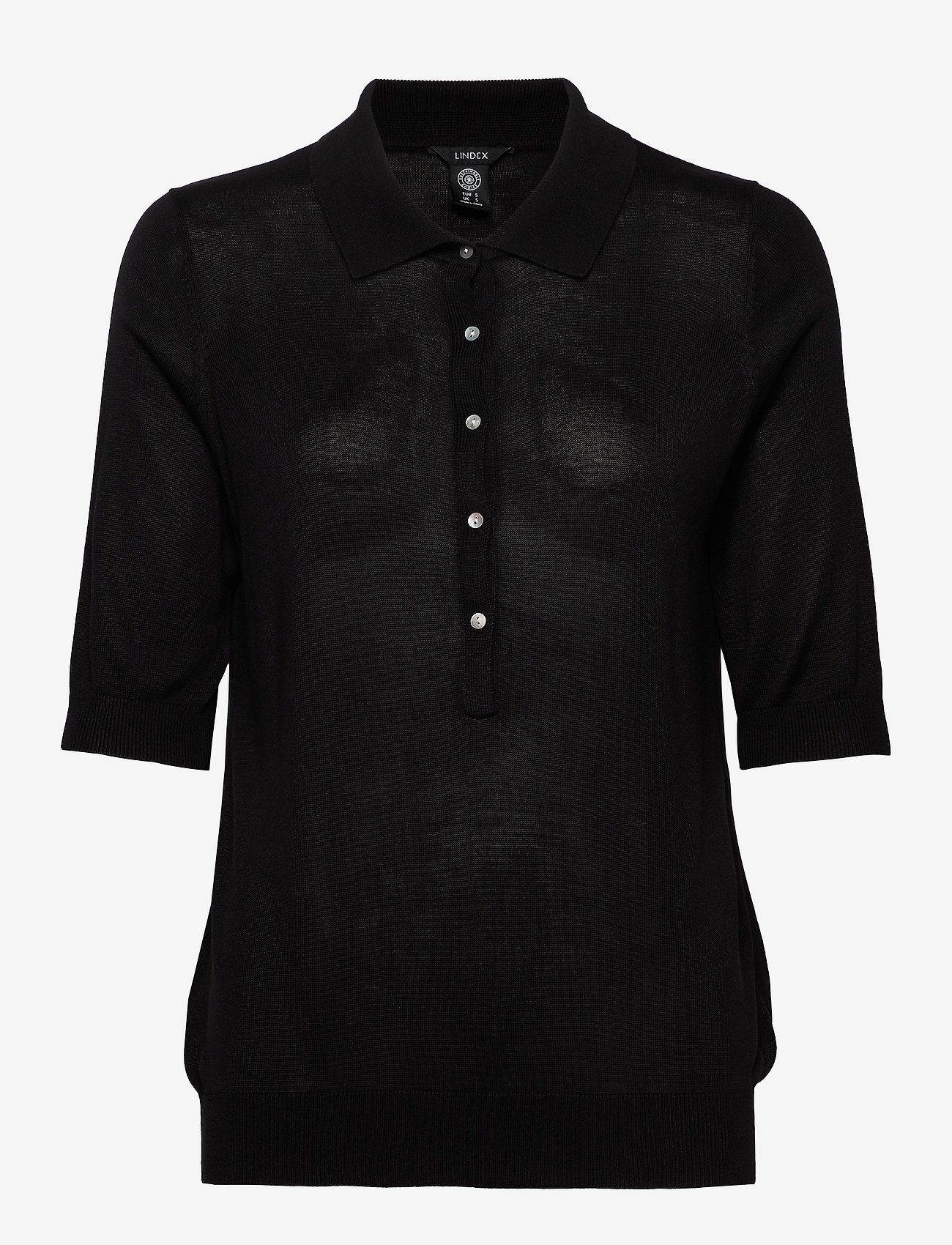 Lindex - Poloshirt Ru - strikkede toppe - black - 0