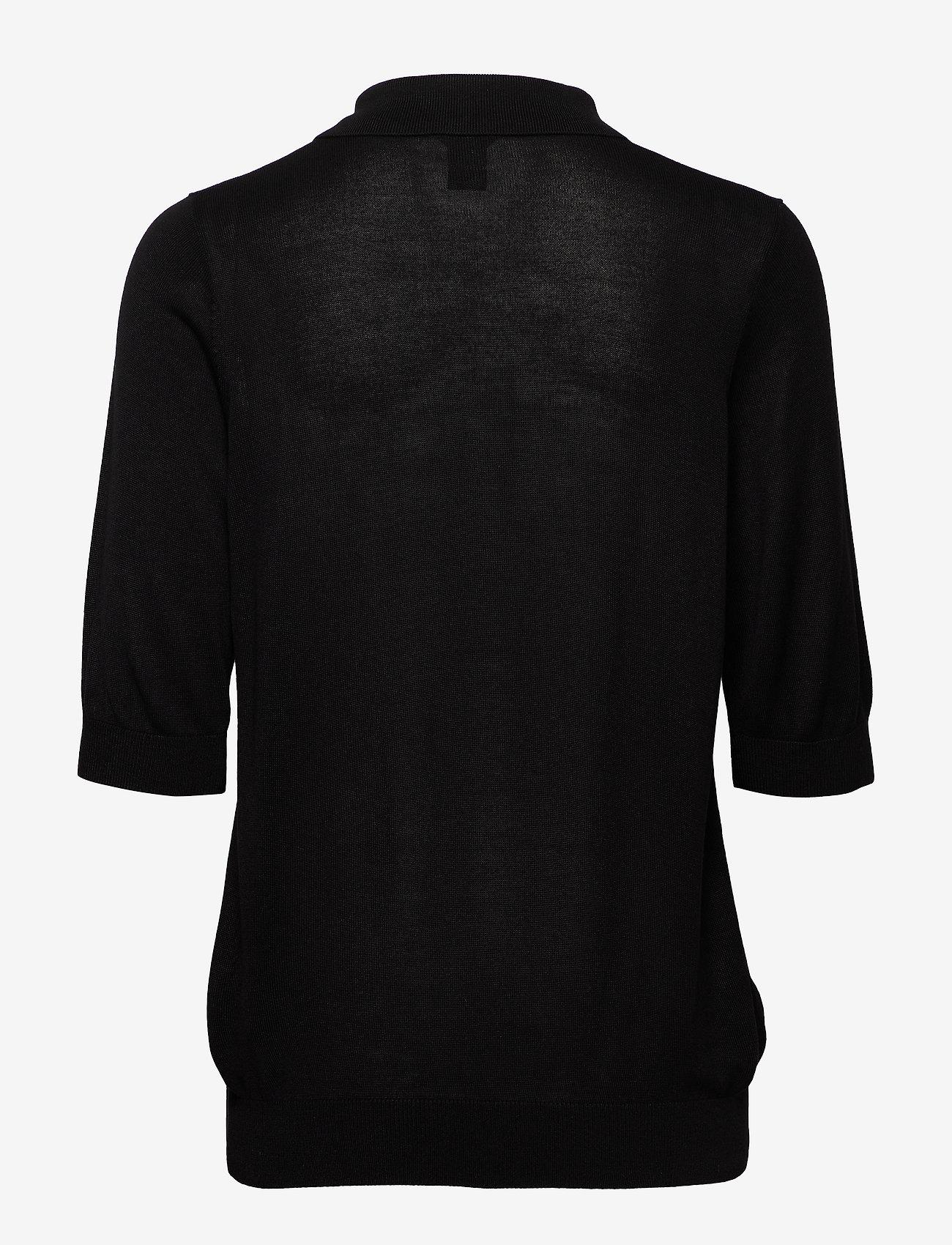 Lindex - Poloshirt Ru - strikkede toppe - black - 1