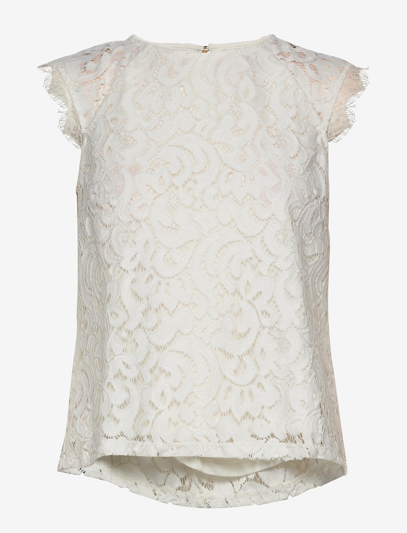 Lindex Top Pearl - Bluzki & Koszule OFF WHITE - Kobiety Odzież.