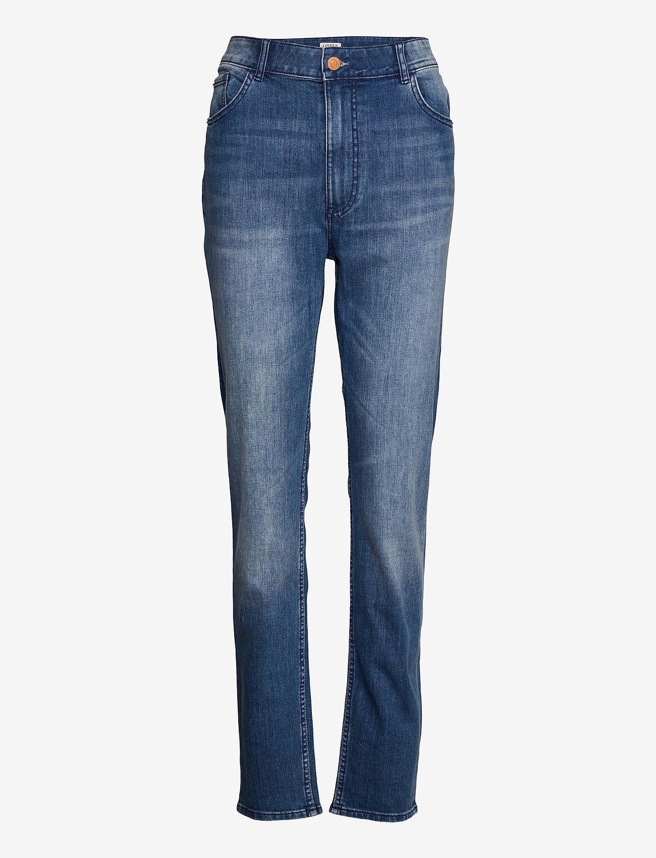 Lindex - Denim trousers Vera mid blue - slim jeans - blue - 0
