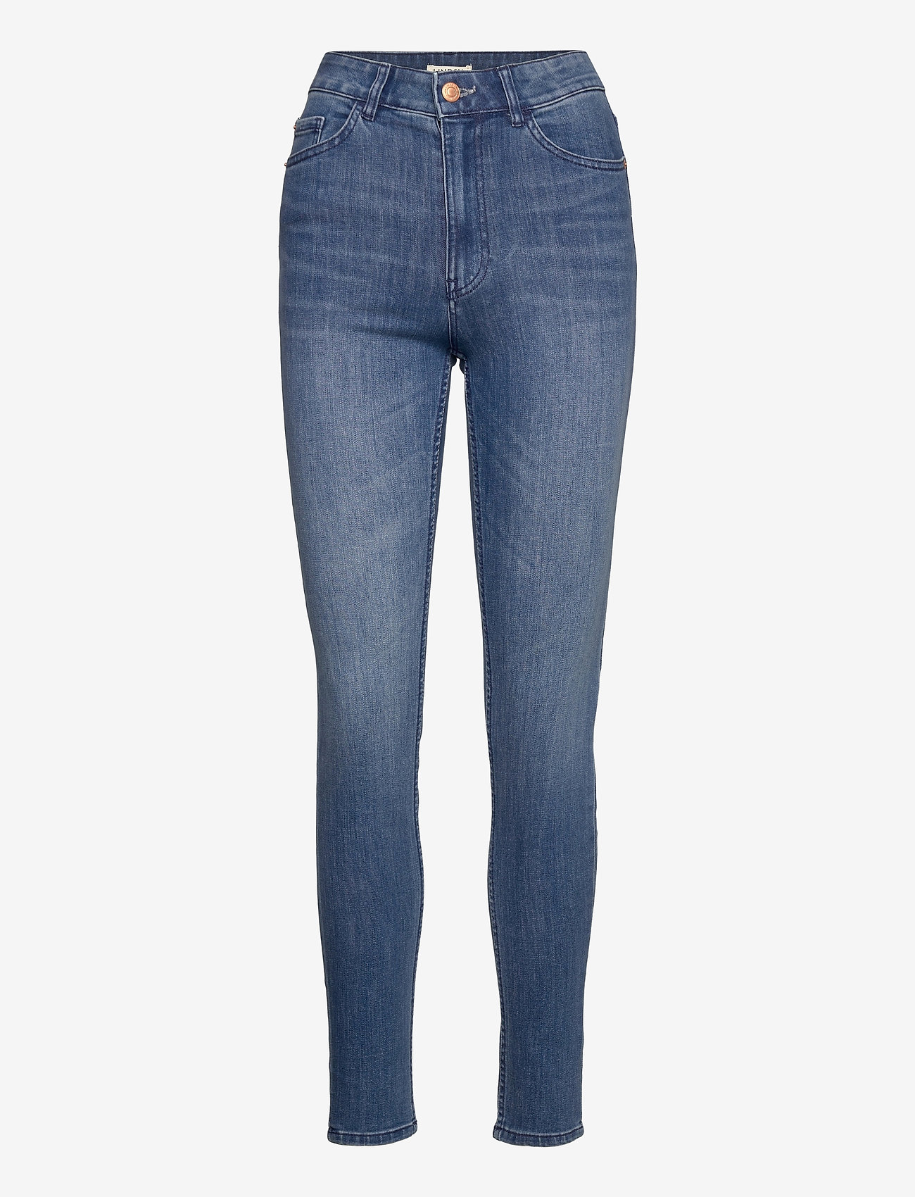 Lindex - Denim trousers Vera mid blue - slim jeans - denim - 0