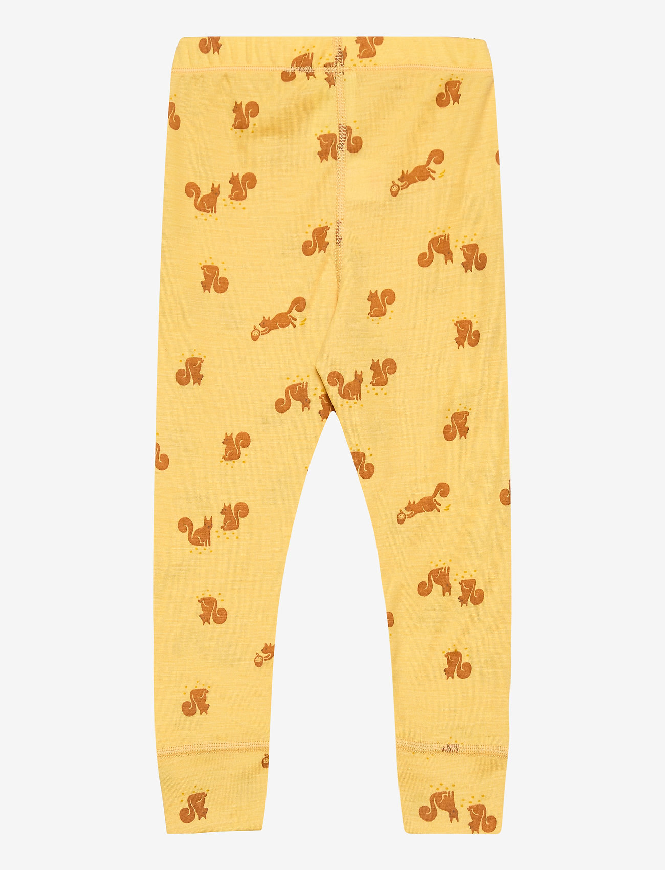 Lindex - Leggings baby merino uni aop - leggings - dusty yellow - 1