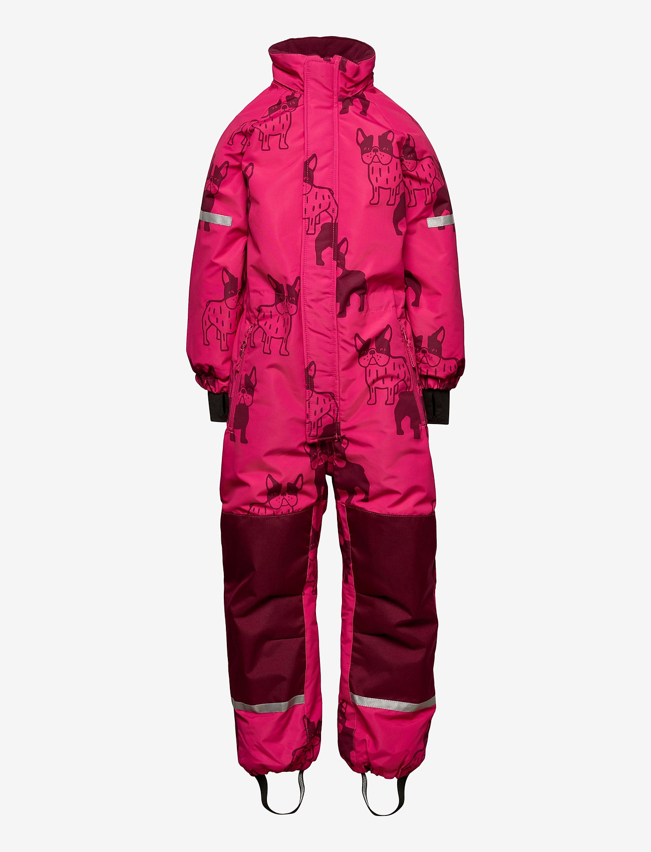 Lindex - Billie Overall dog aop - snowsuit - dark pink - 1