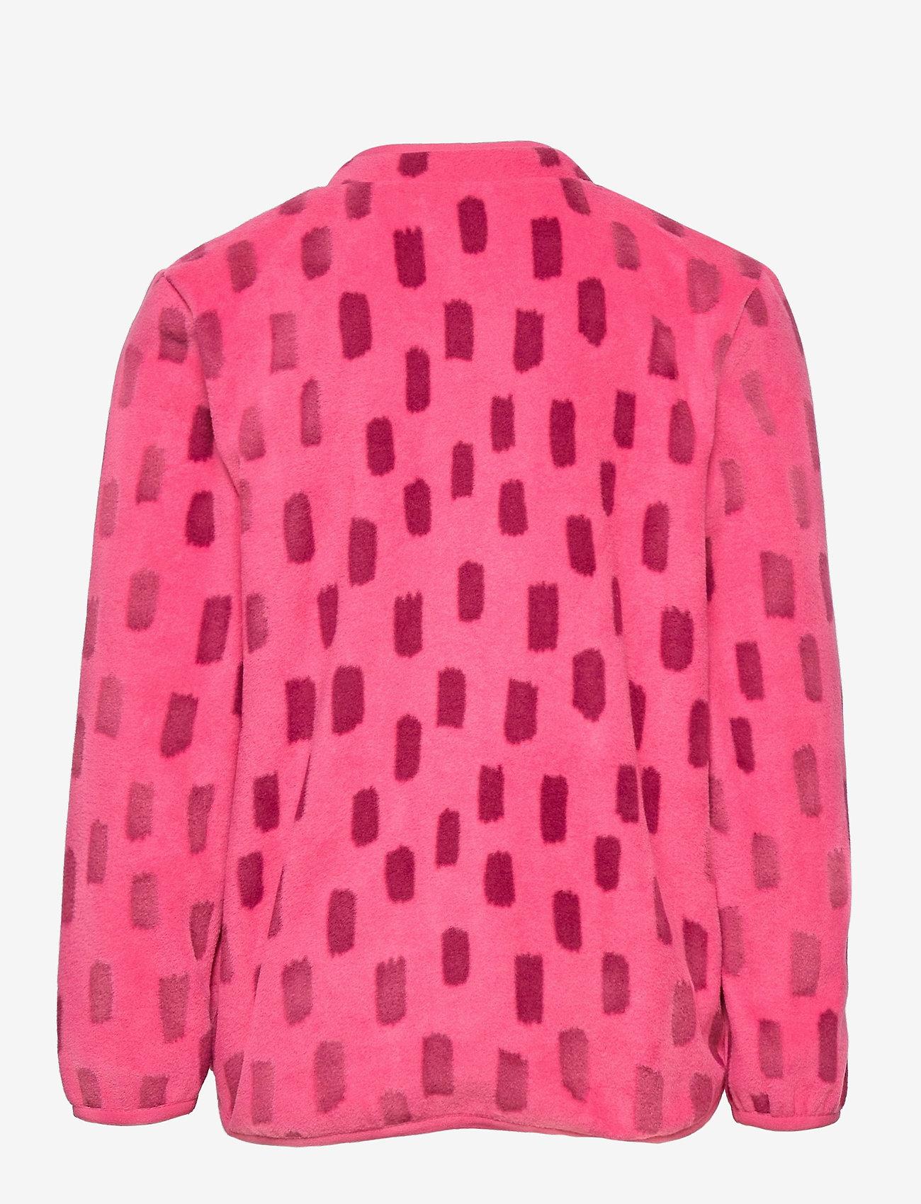 Lindex - Fleece jacket AOP - fleecetøj - dark pink - 1