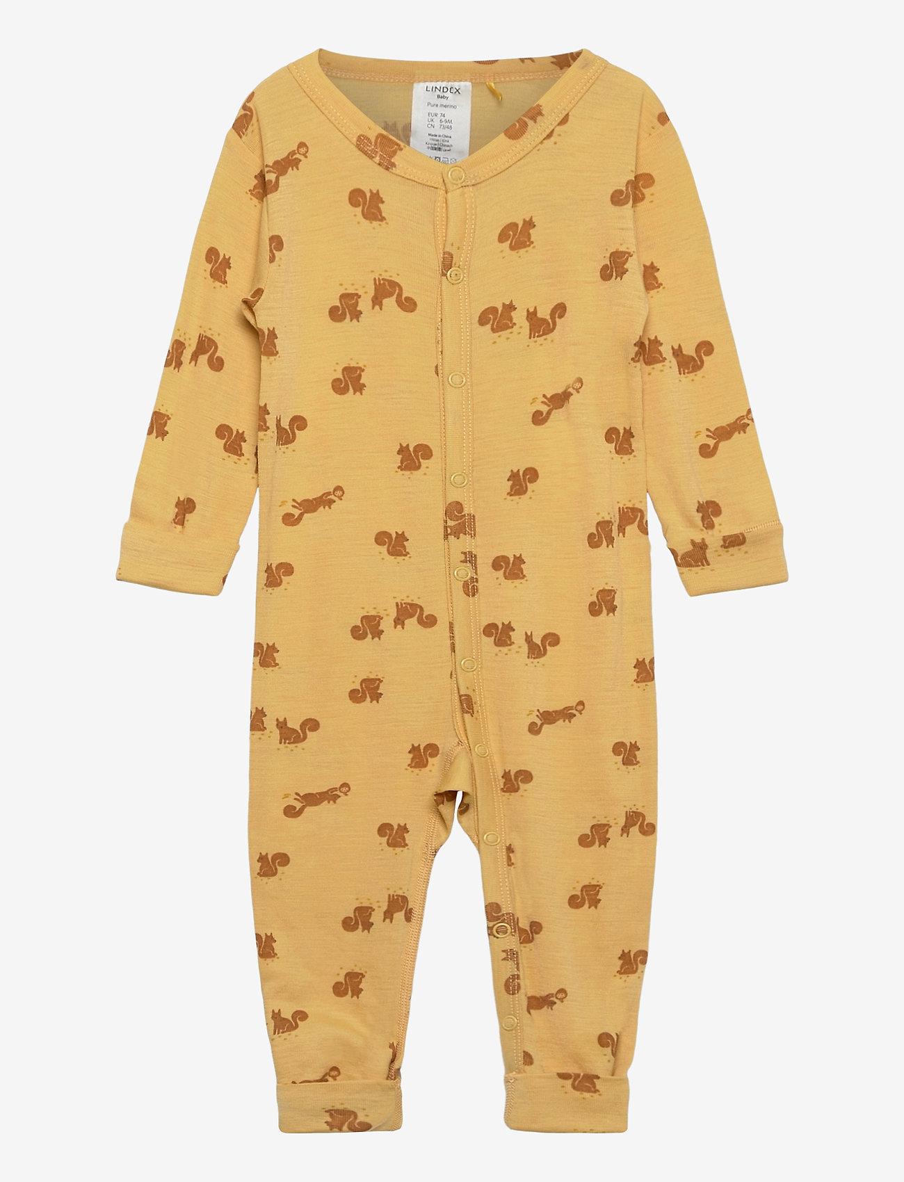 Lindex - baby onesies print - langärmelig - yellow - 0