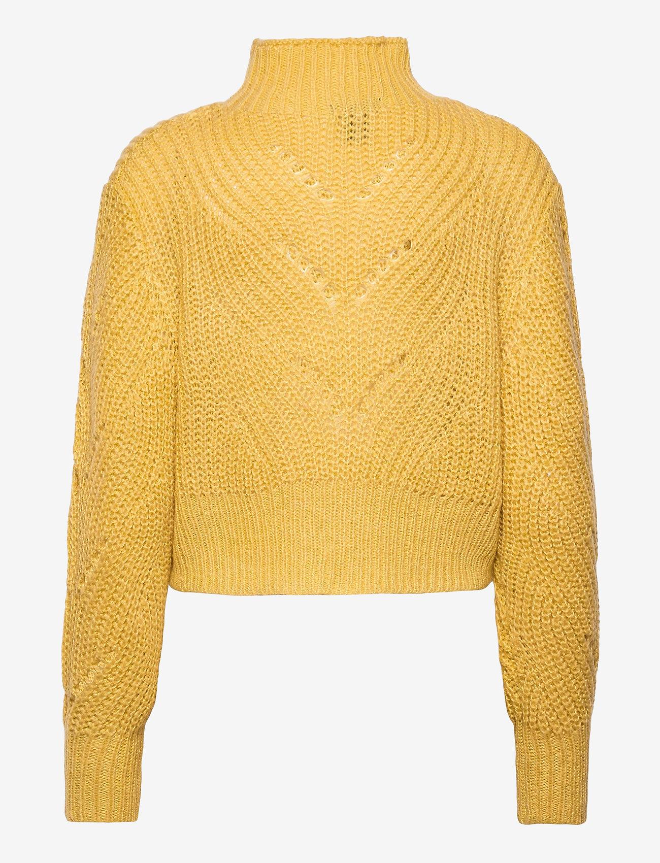 Lindex - Sweater Sissela - turtlenecks - yellow - 1