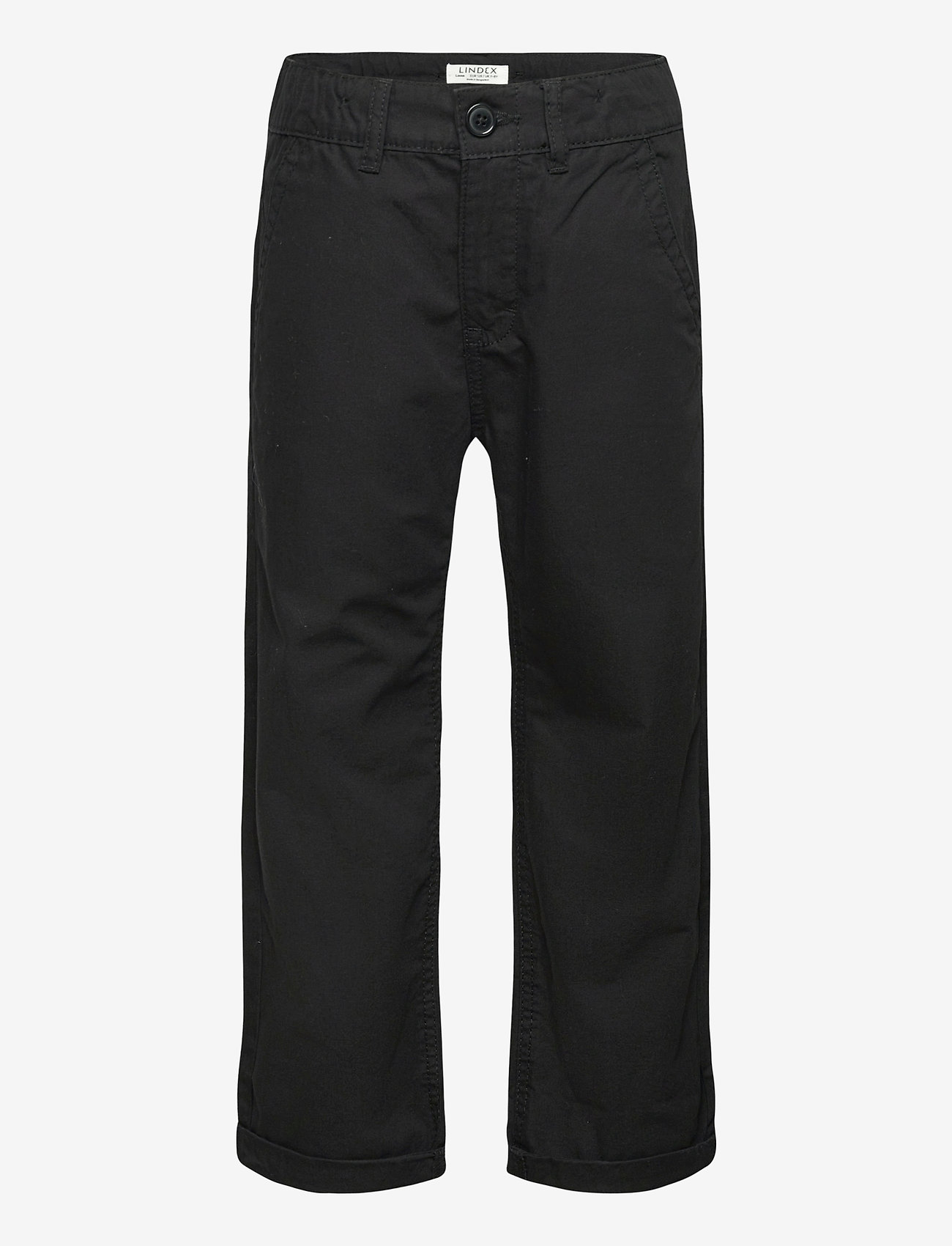Lindex - Trousers chinos skatefit - trousers - black - 0