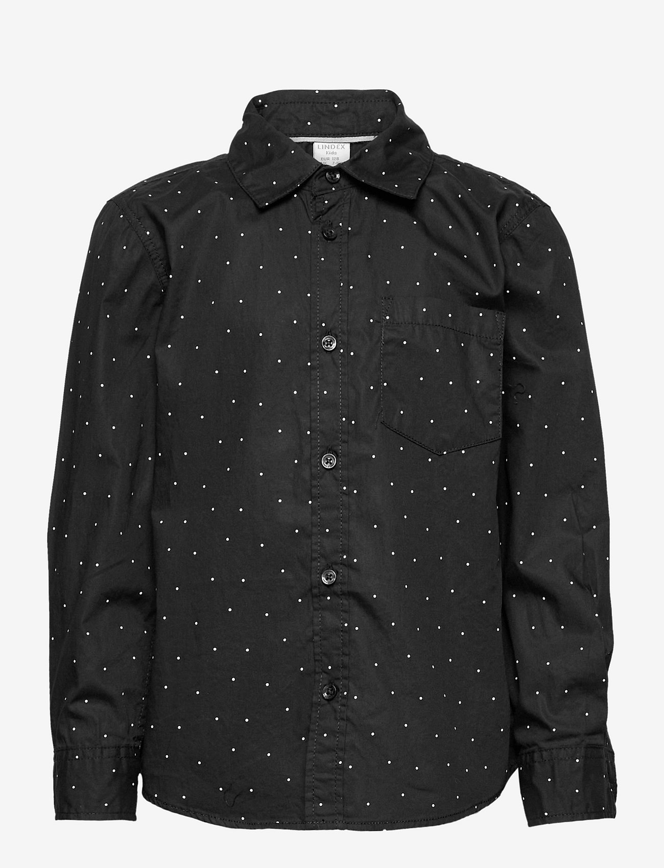 Lindex - Shirt check party aop - overhemden - black - 0