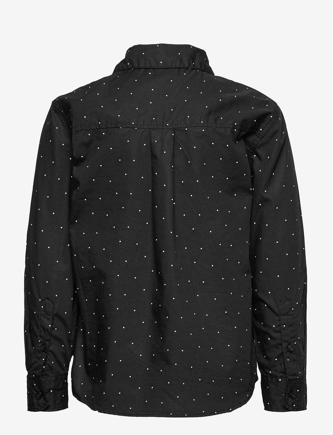 Lindex - Shirt check party aop - overhemden - black - 1