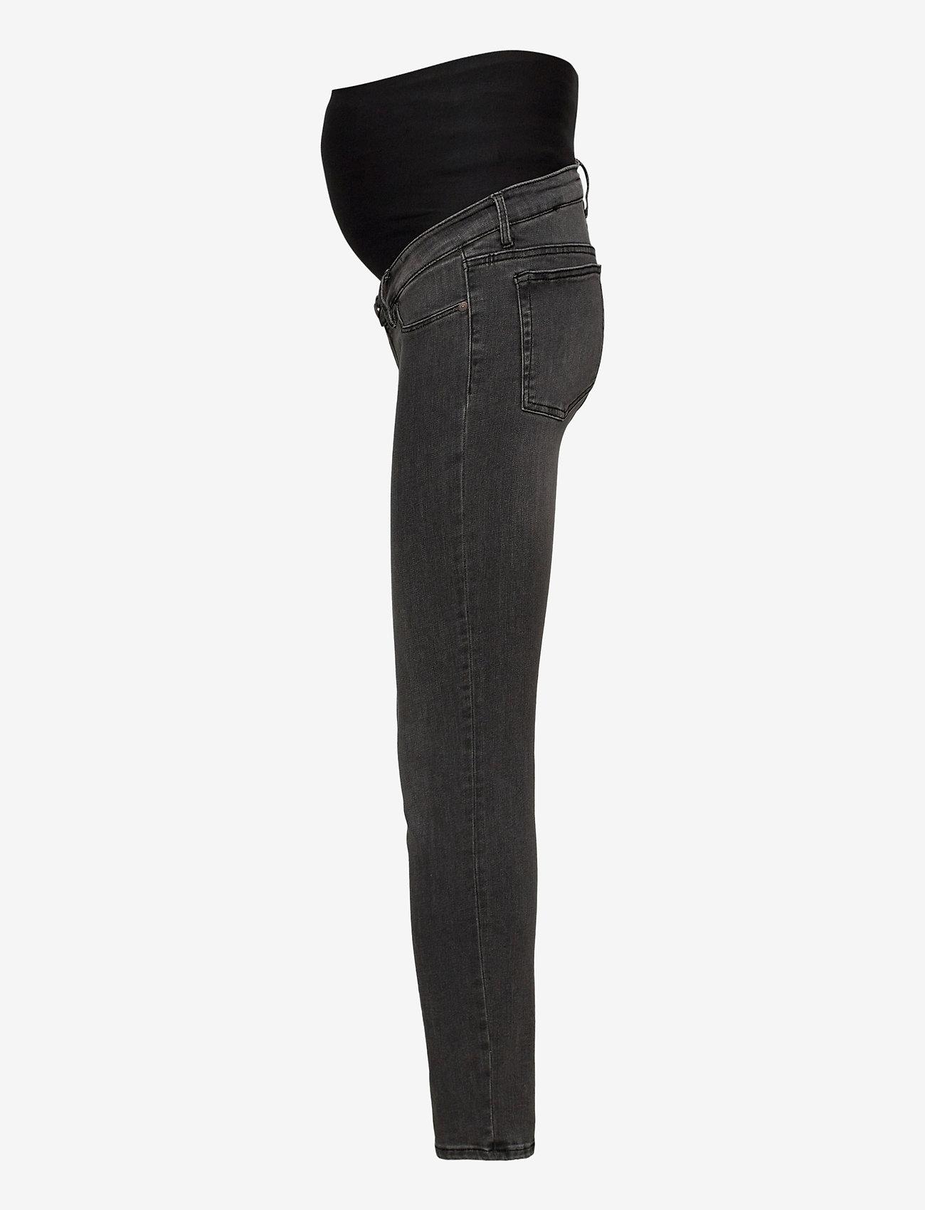 Lindex - Trousers denim  MOM Clara blac - skinny jeans - black - 2
