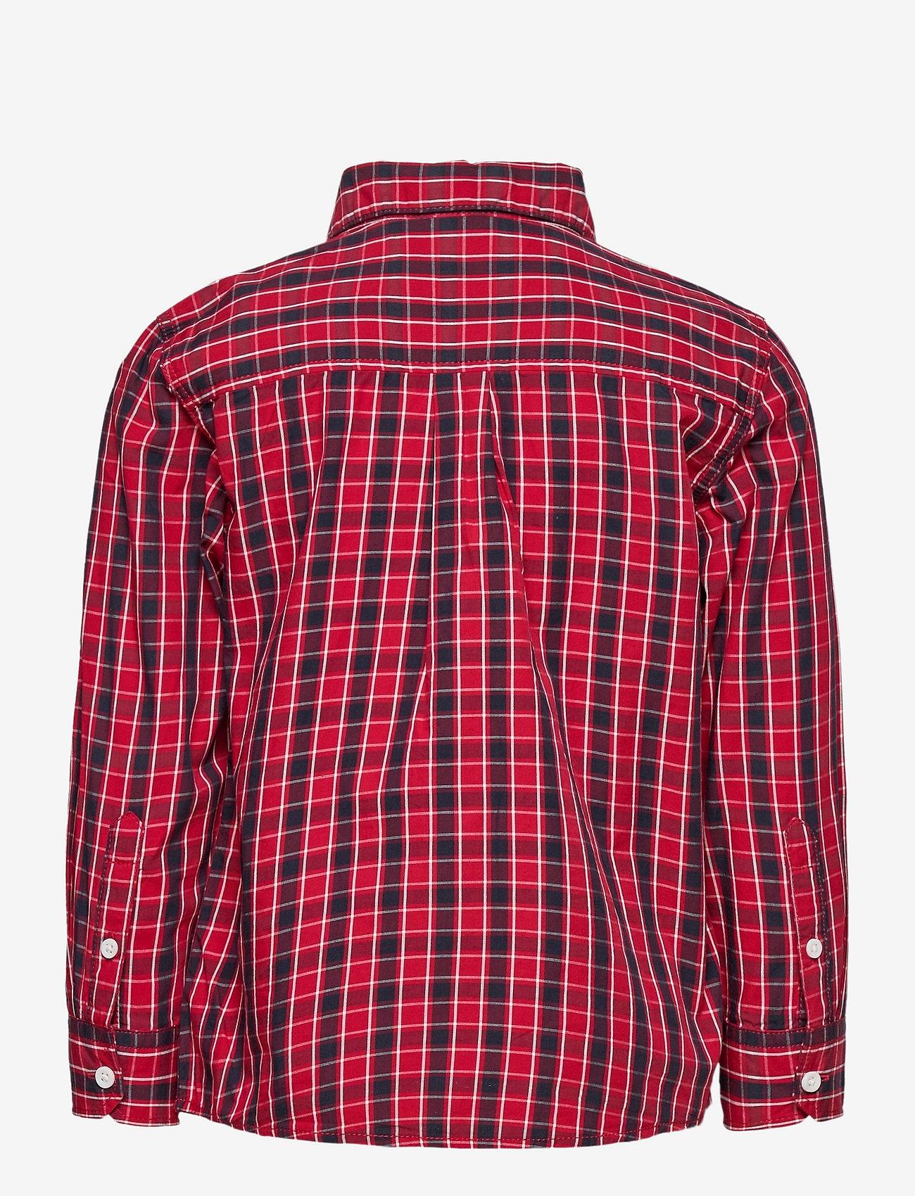 Lindex - Shirt Christmas - overhemden - dark red - 1