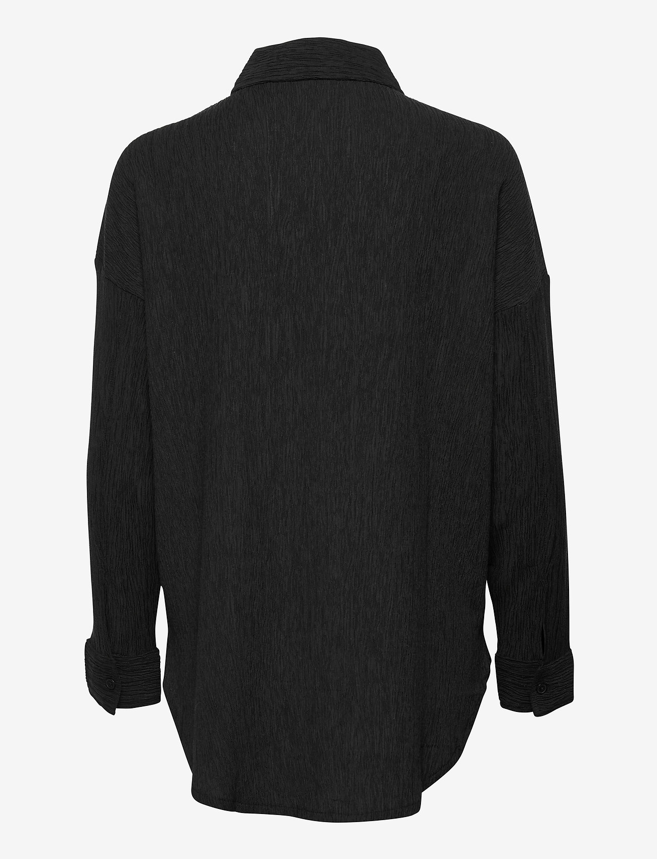 Lindex - Corinne Shacket Plisse - vêtements - black - 1