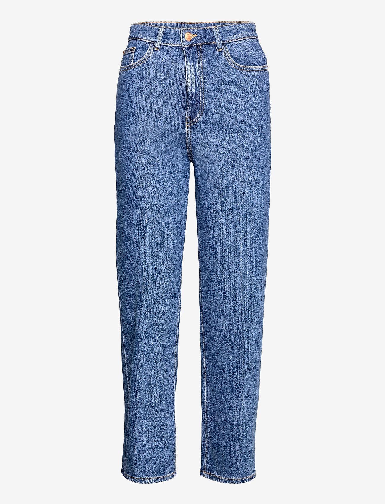 Lindex - Trousers Hanna retro blue - mom jeans - blue - 0