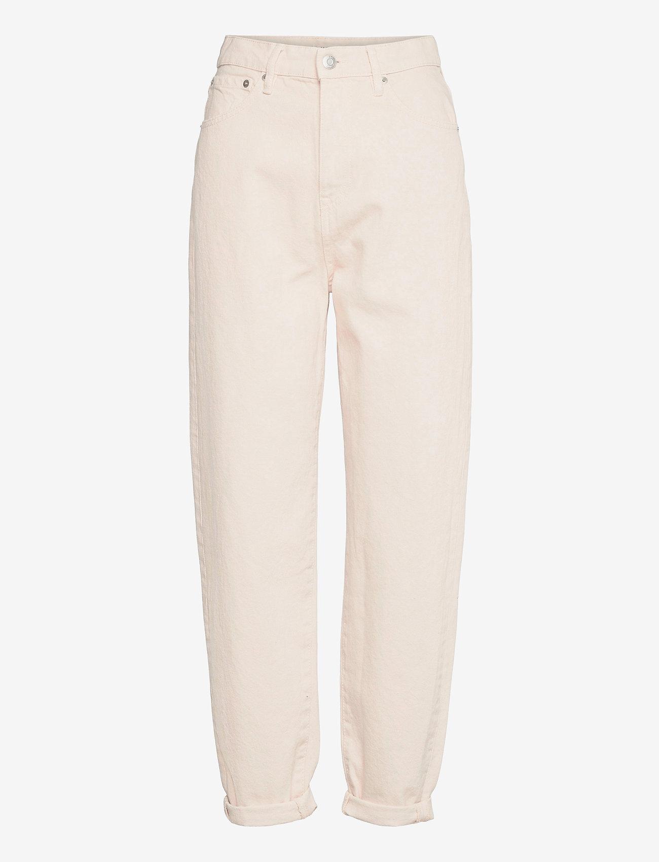 Lindex - Trousers denim Pam ecru - mom jeans - beige - 0