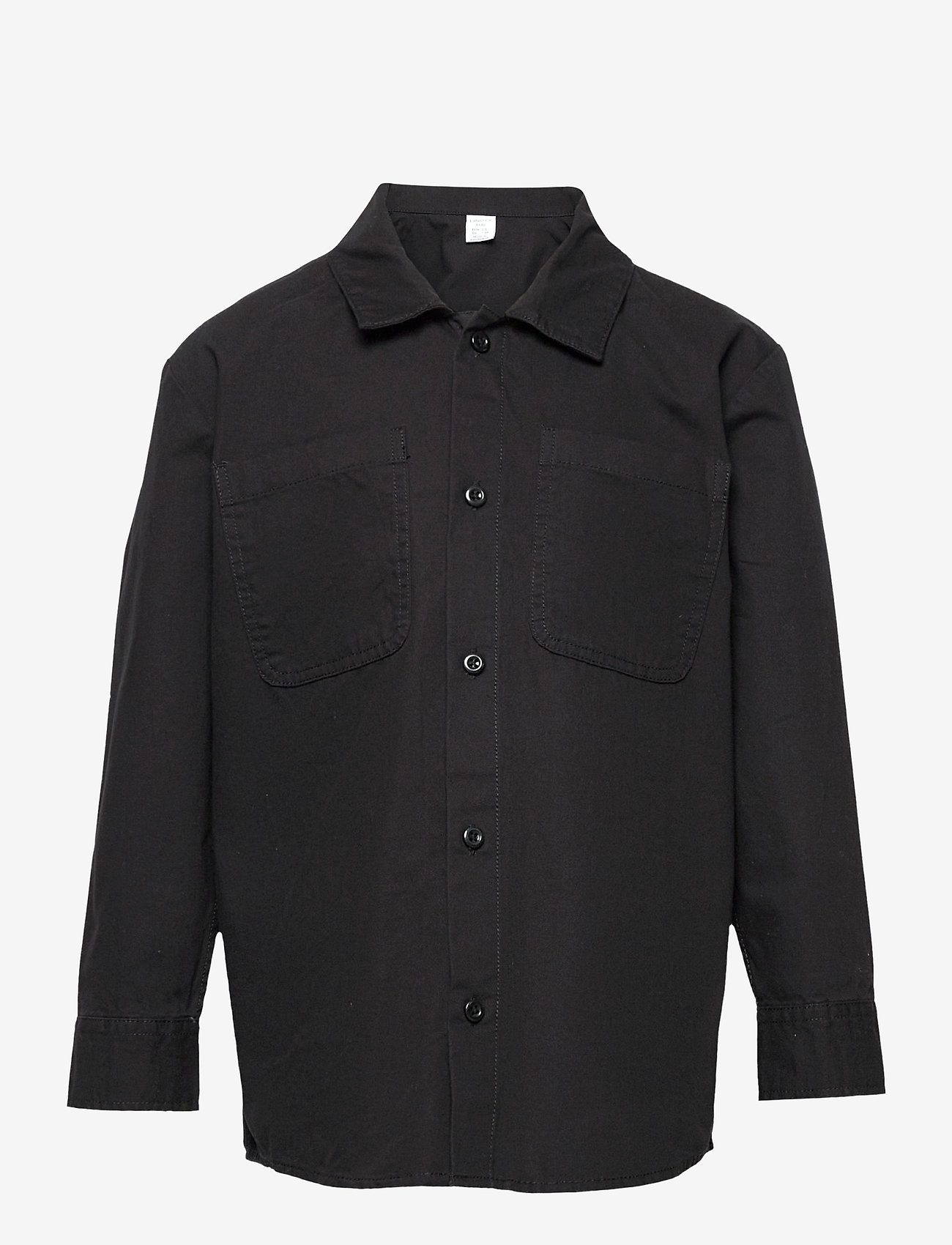 Lindex - Shirt overshirt worker - shirts - black - 0