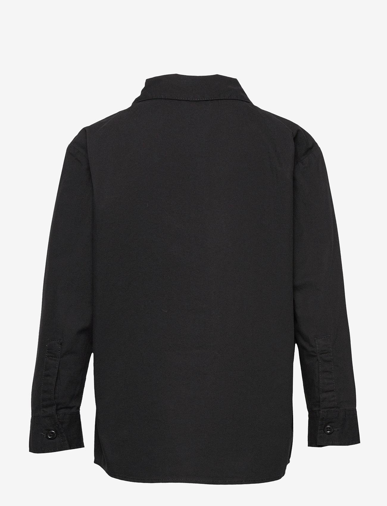 Lindex - Shirt overshirt worker - shirts - black - 1