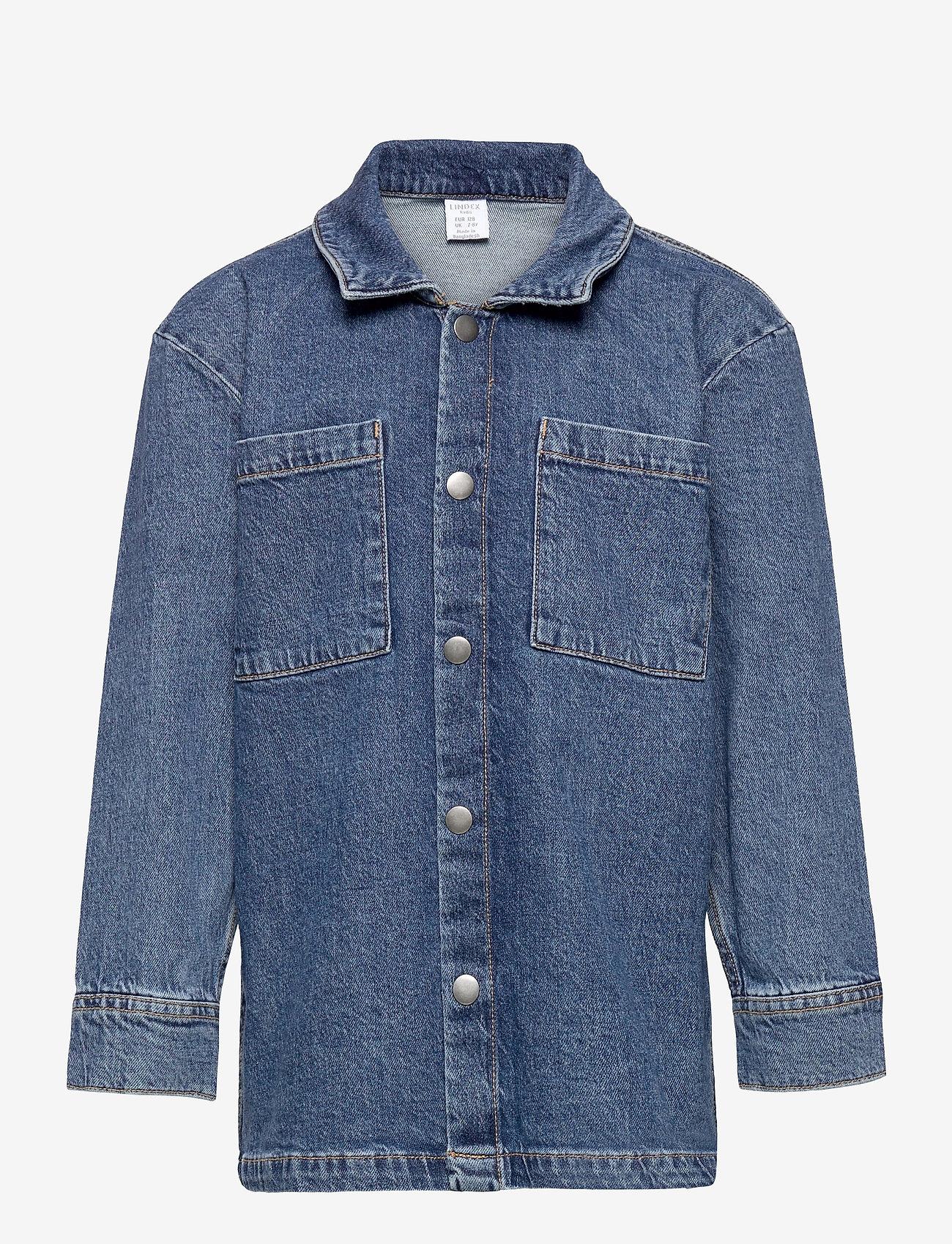 Lindex - Shirt overshirt denim - spijkerjassen - blue - 0