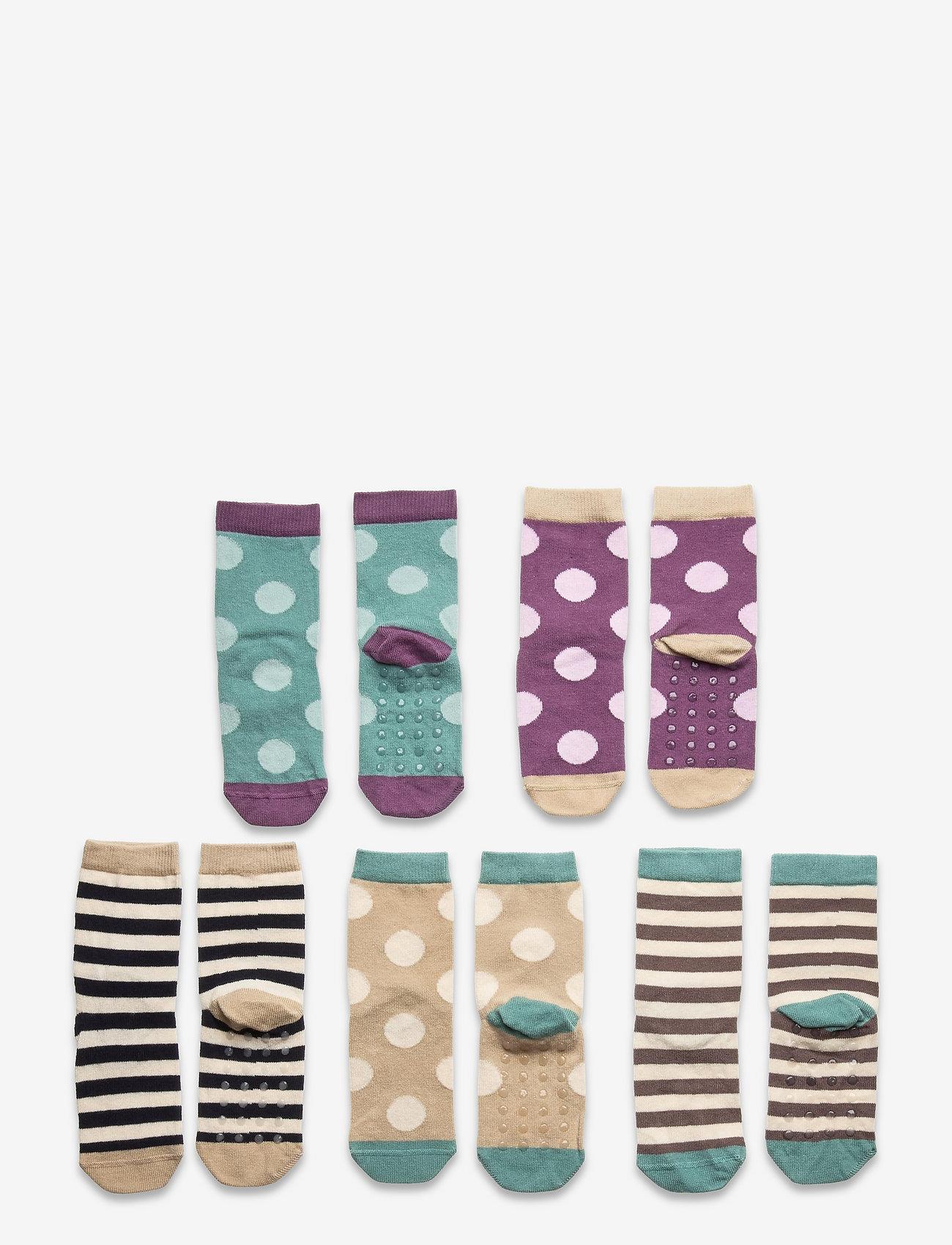 Lindex - Sock 5p Small kids dots - skarpetki - lilac - 0