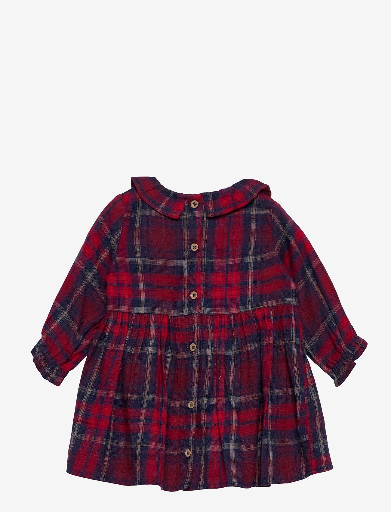 Lindex - Dress woven check - kleider - red - 1