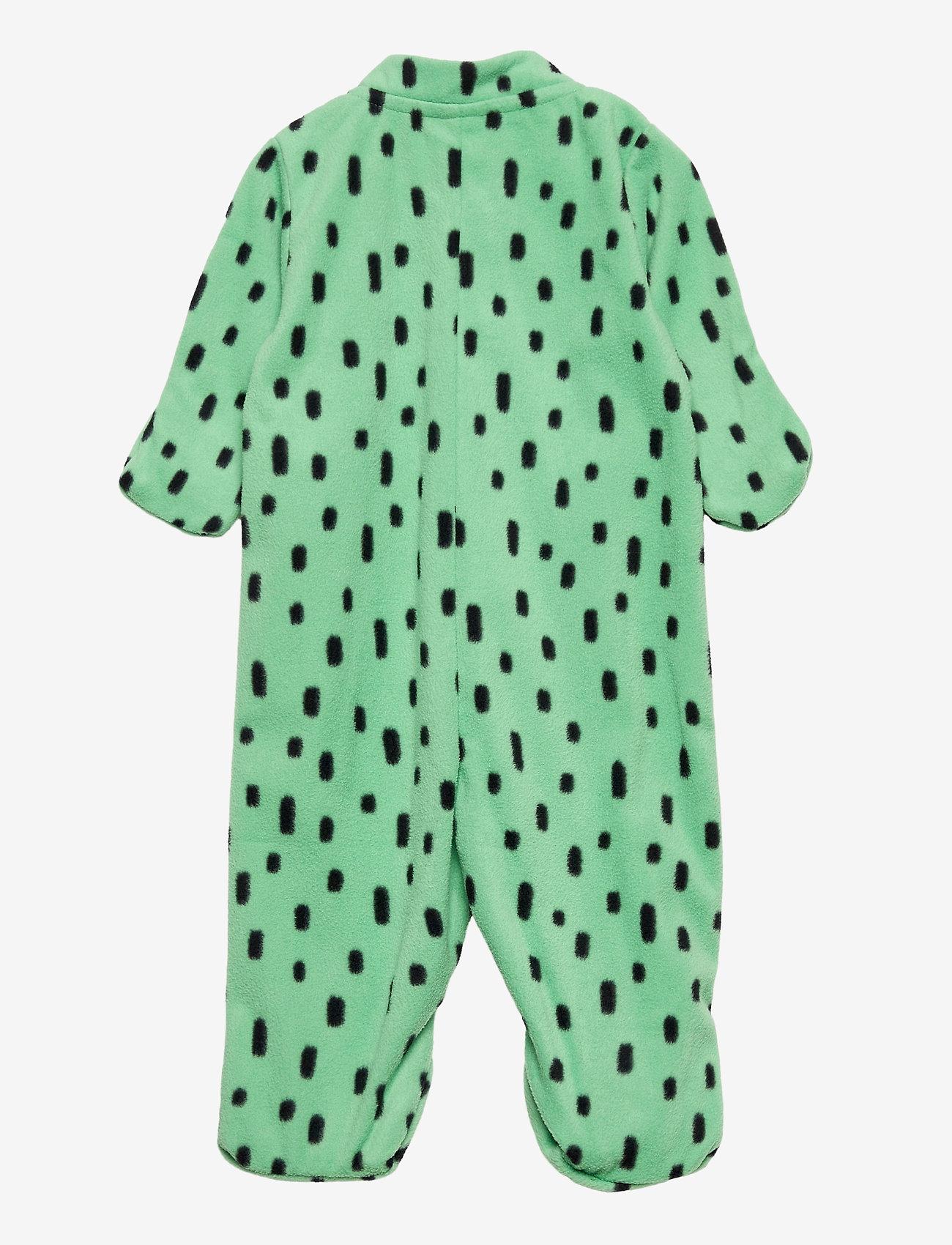 Lindex - Overall fleece - fleecetøj - green - 1