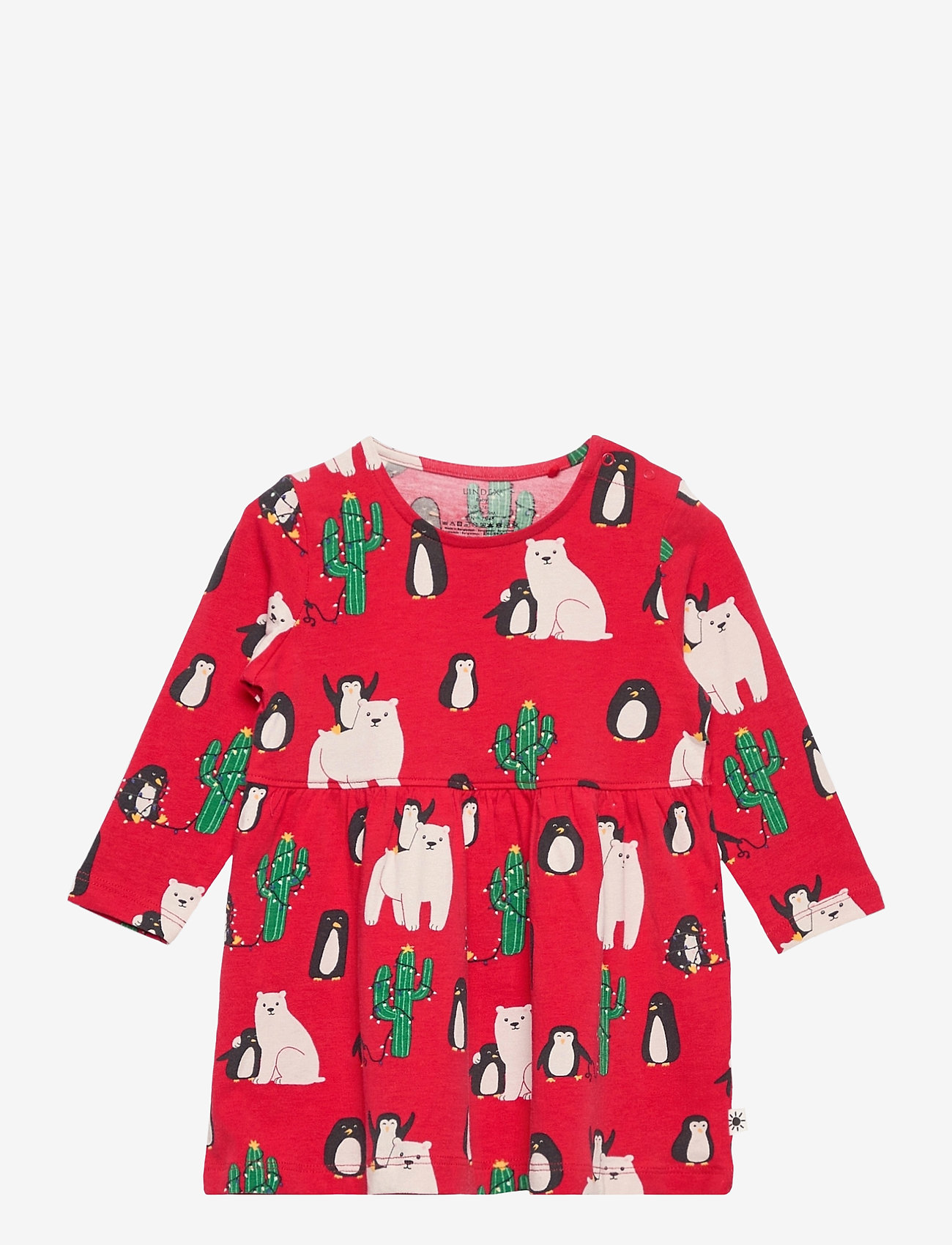 Lindex - Dress Funny xmas - kleider - red - 0