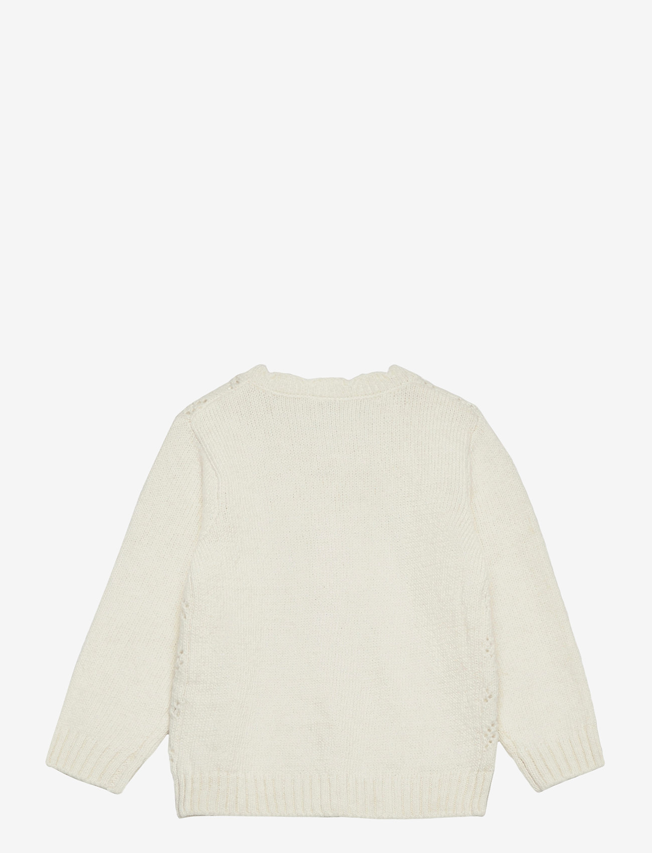 Lindex - Cardigan patternknit scallop e - gilets - white - 1