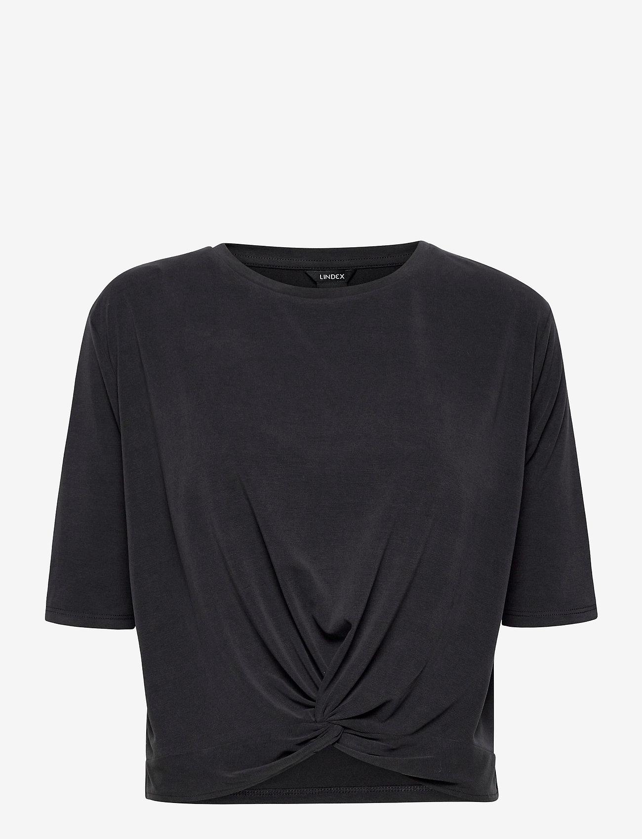Lindex - top Otilia - t-shirts - black - 0