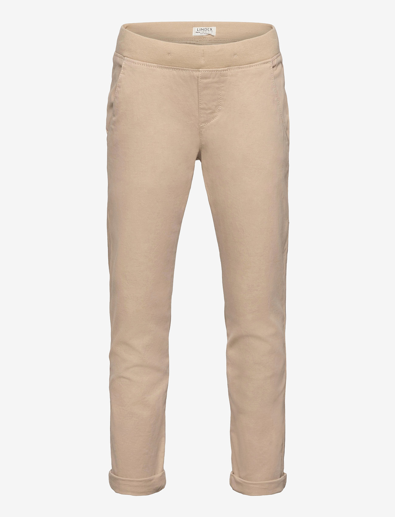 Lindex - Trousers Twill - trousers - beige - 0