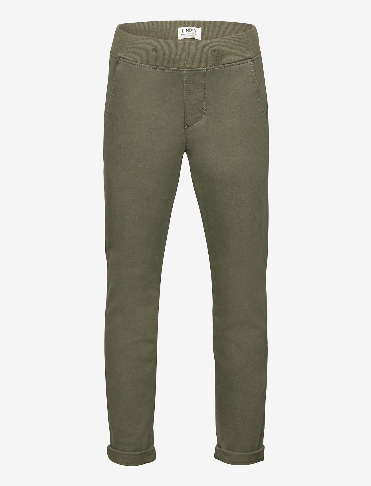Lindex - Trousers Twill - trousers - green - 0