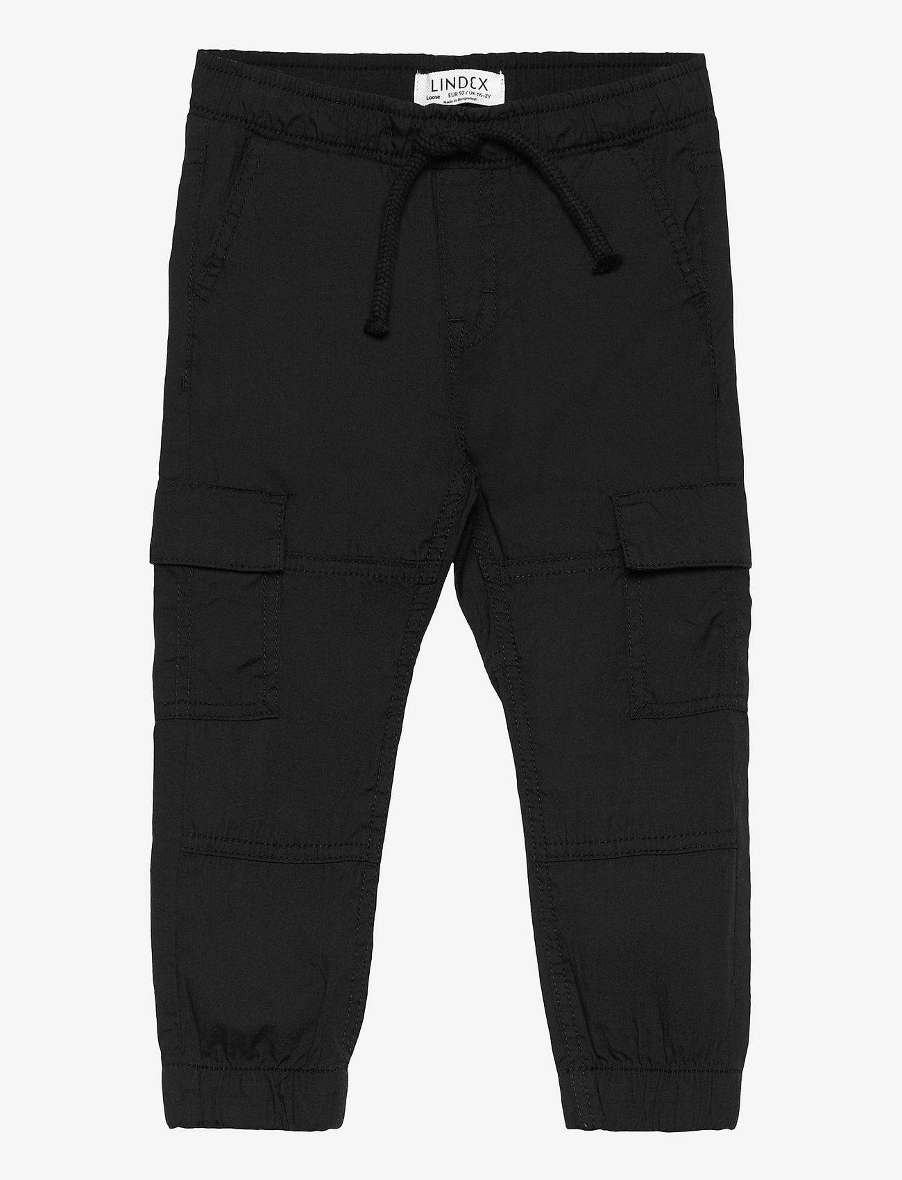 Lindex - Trousers Pelle cargo - trousers - black - 0