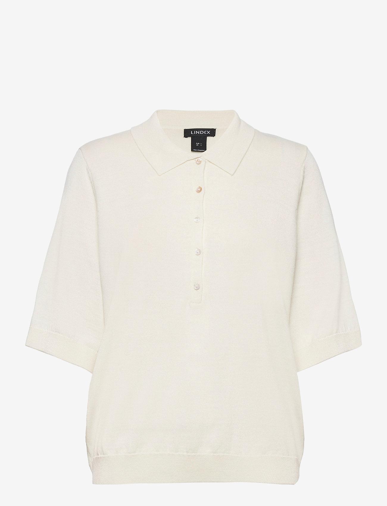 Lindex - Poloshirt Ru - strikkede toppe - white - 0