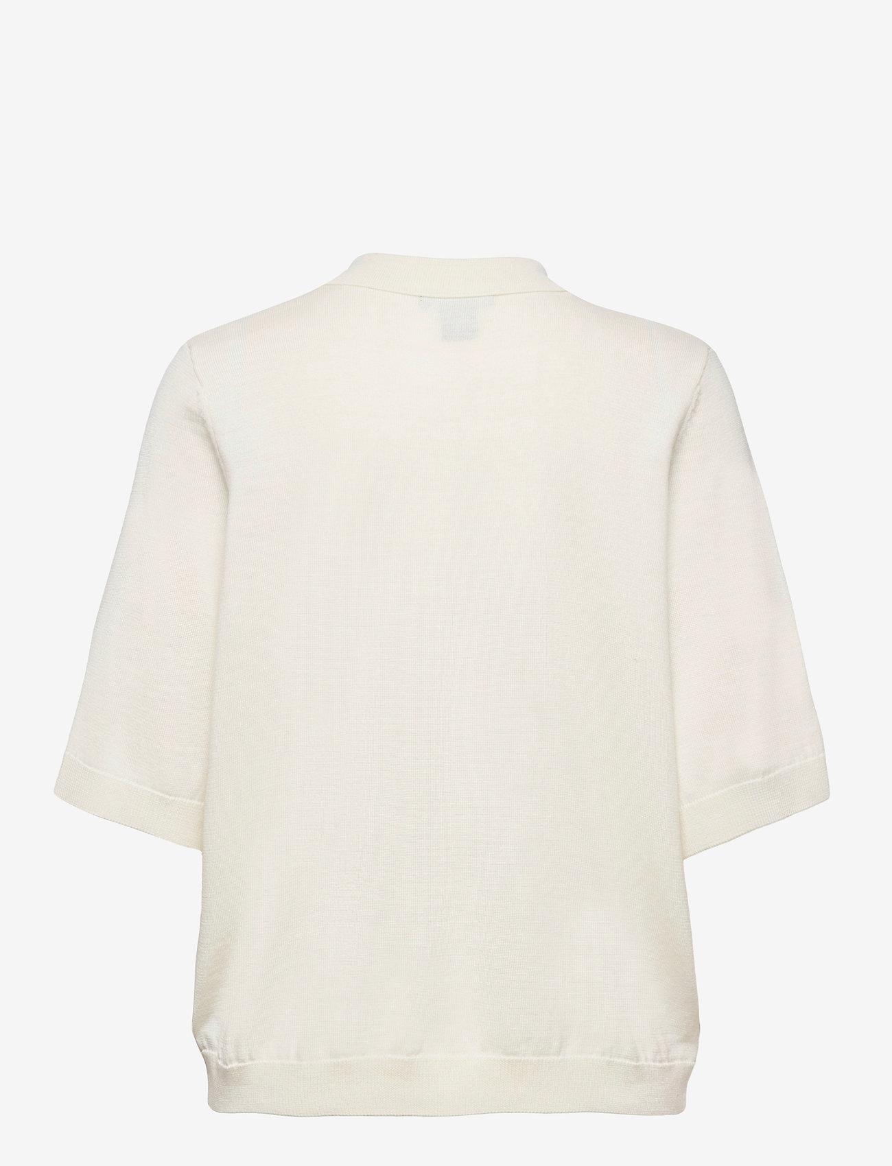 Lindex - Poloshirt Ru - strikkede toppe - white - 1
