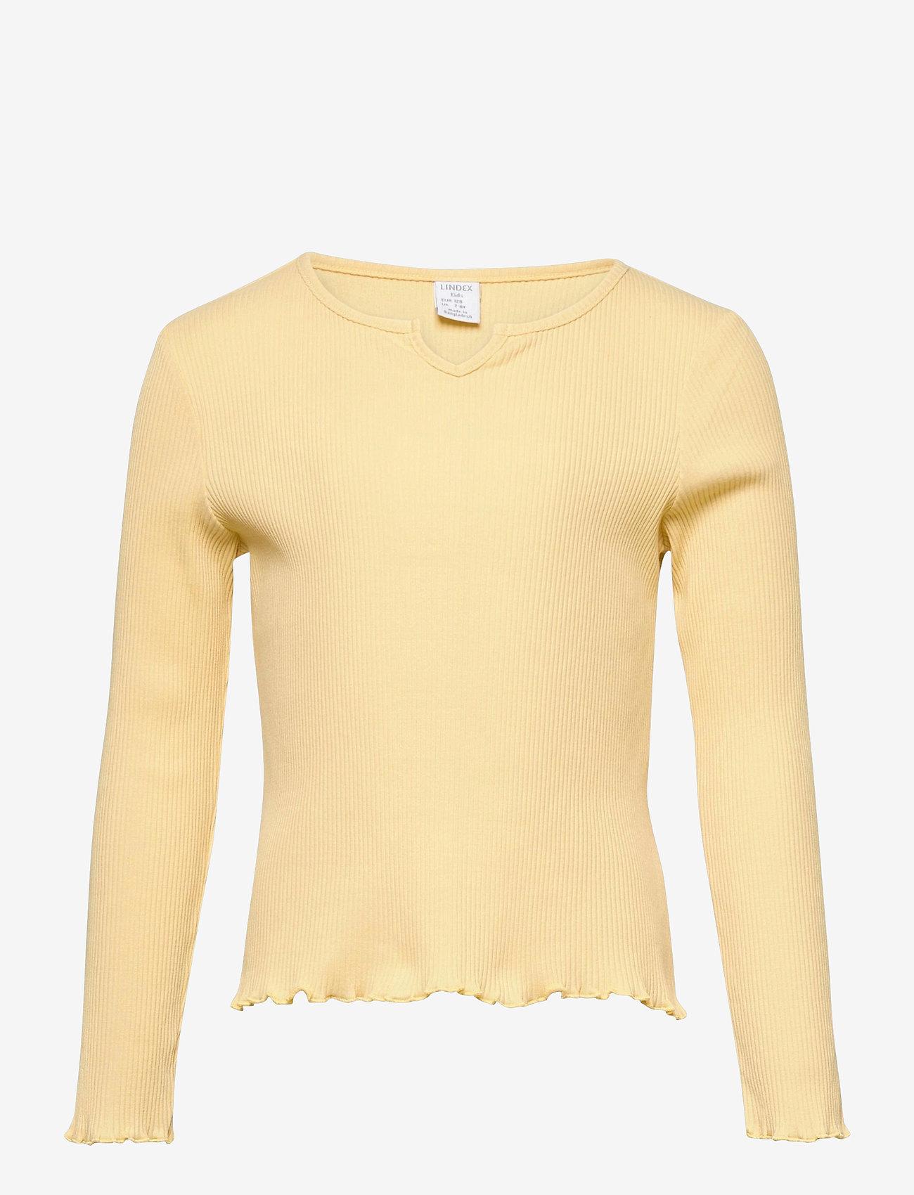 Lindex - Top Jenna rib - langärmelig - yellow - 0