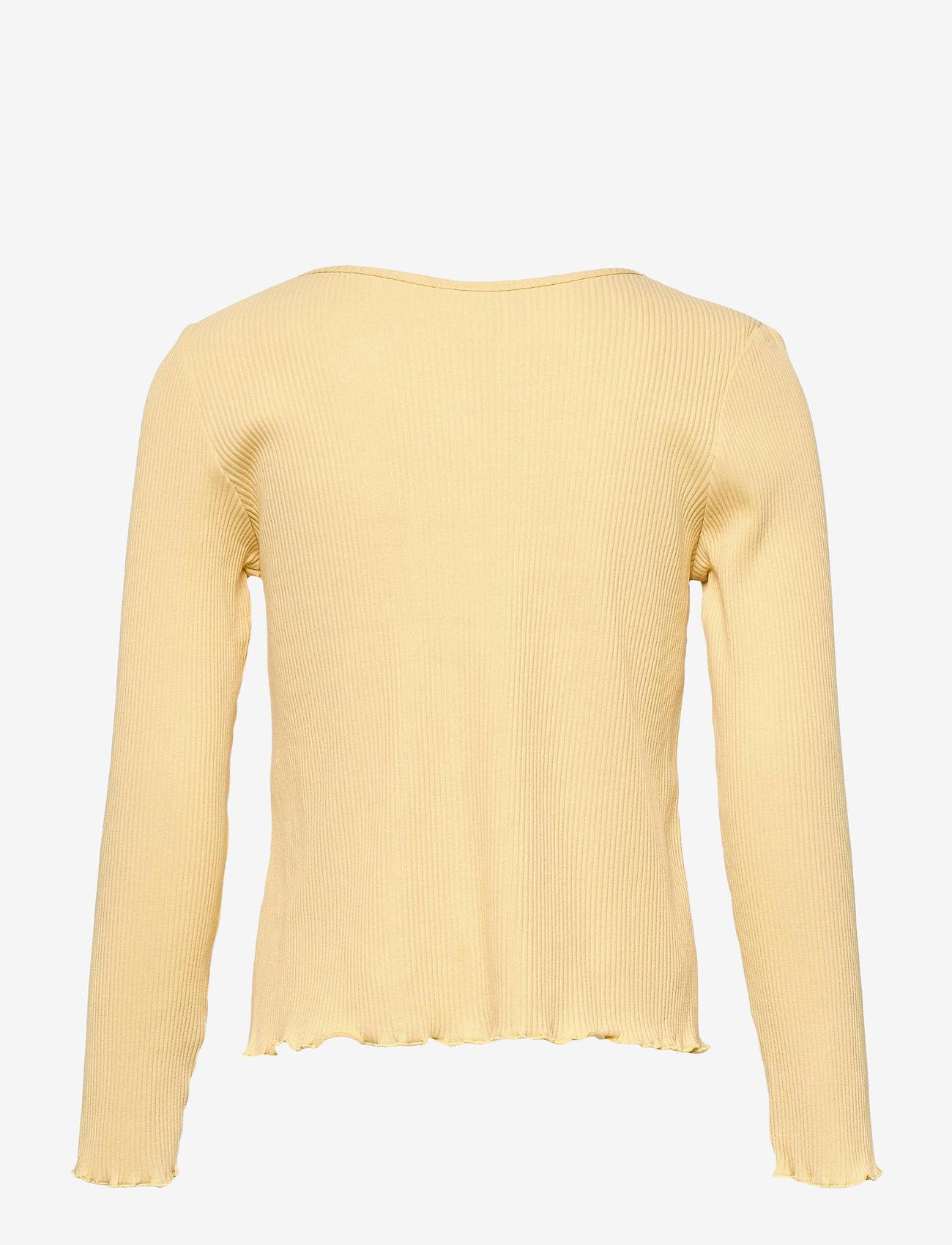 Lindex - Top Jenna rib - langärmelig - yellow - 1