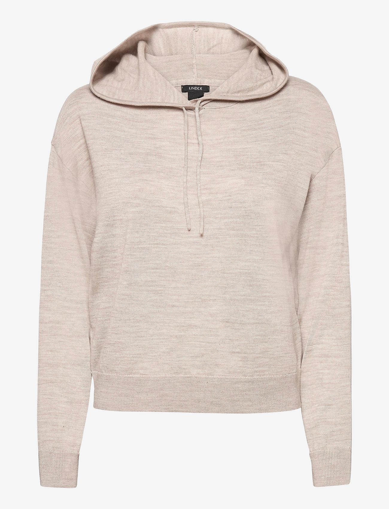 Lindex - Sweater Angie - hættetrøjer - beige - 0